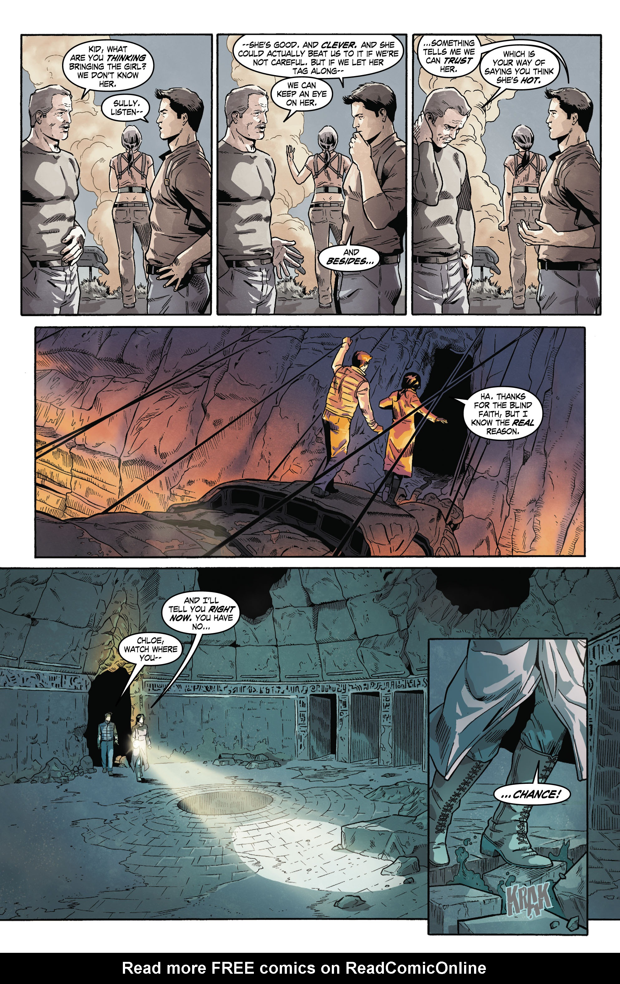 Read online Uncharted comic -  Issue #4 - 16