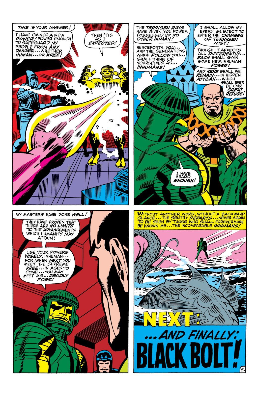 Read online Marvel Masterworks: The Inhumans comic -  Issue # TPB 1 (Part 1) - 17