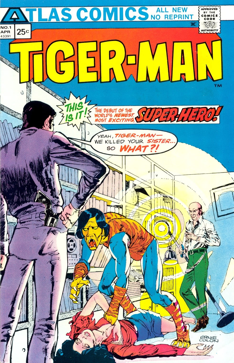 Read online Tiger-Man comic -  Issue #1 - 1