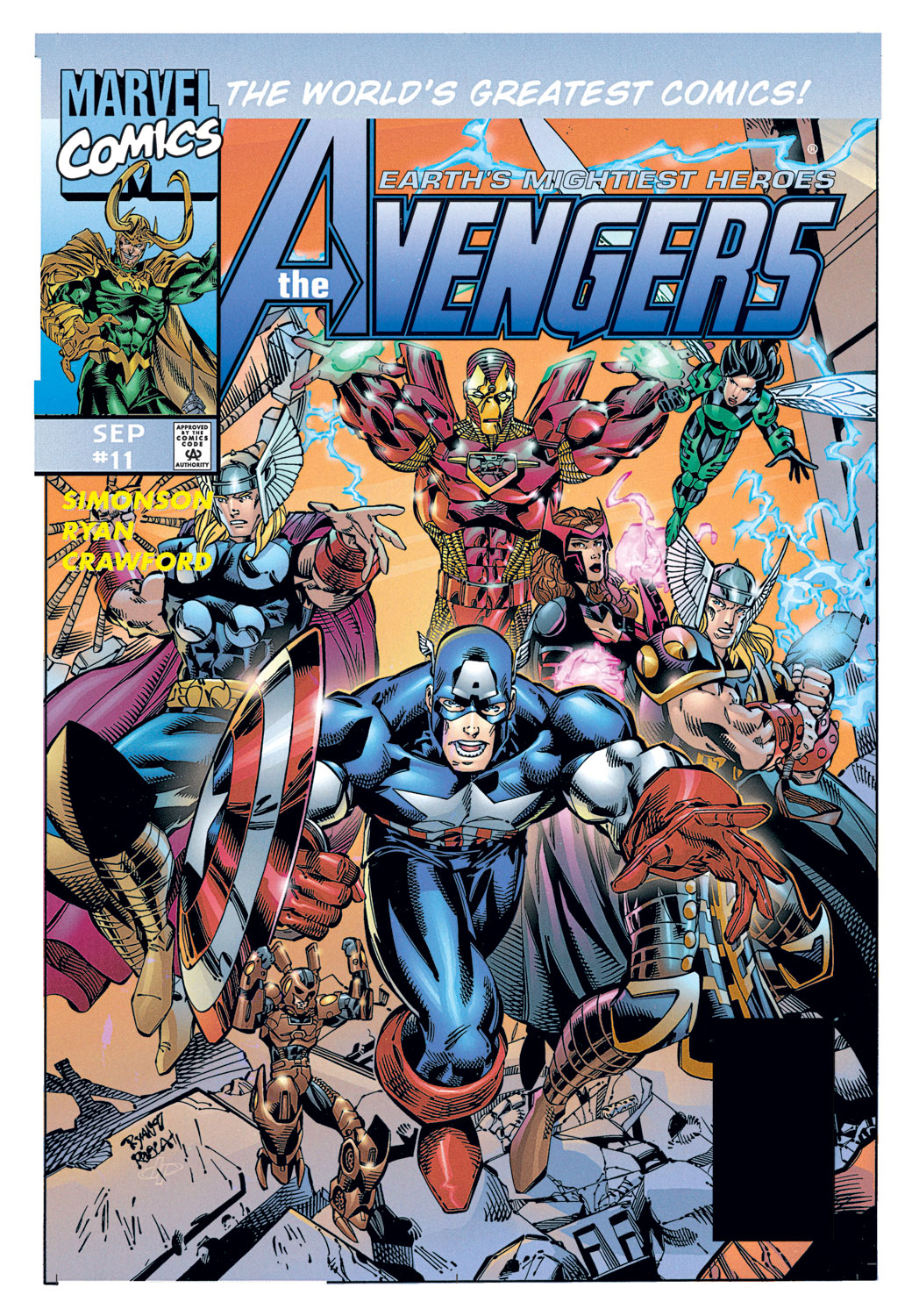 Read online Avengers (1996) comic -  Issue #11 - 1