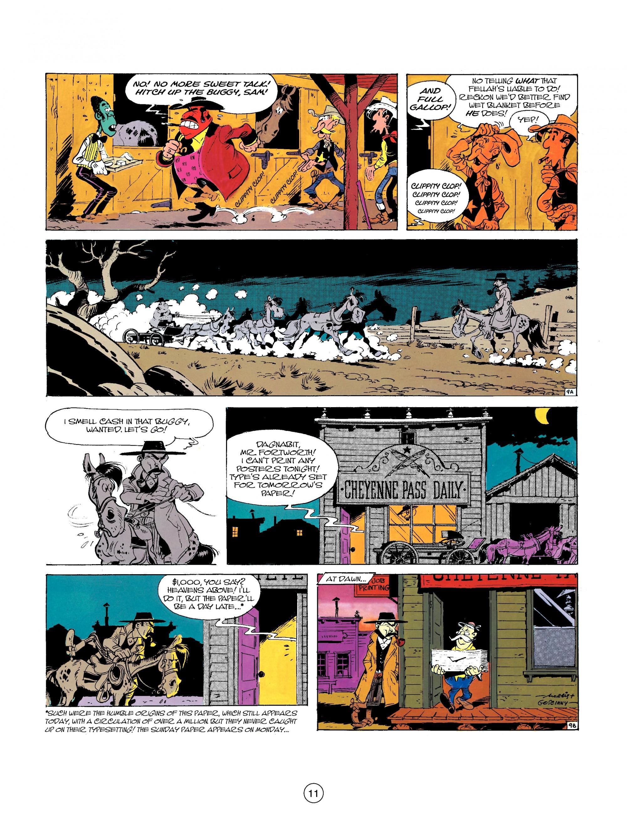 Read online A Lucky Luke Adventure comic -  Issue #26 - 11