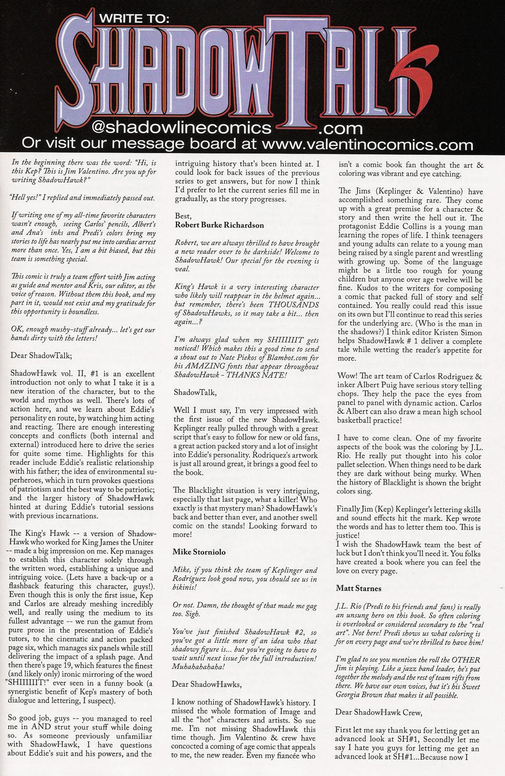 Read online ShadowHawk (2005) comic -  Issue #3 - 27
