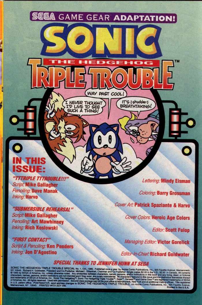 Read online Sonic The Hedgehog Triple Trouble Special comic -  Issue # Full - 2