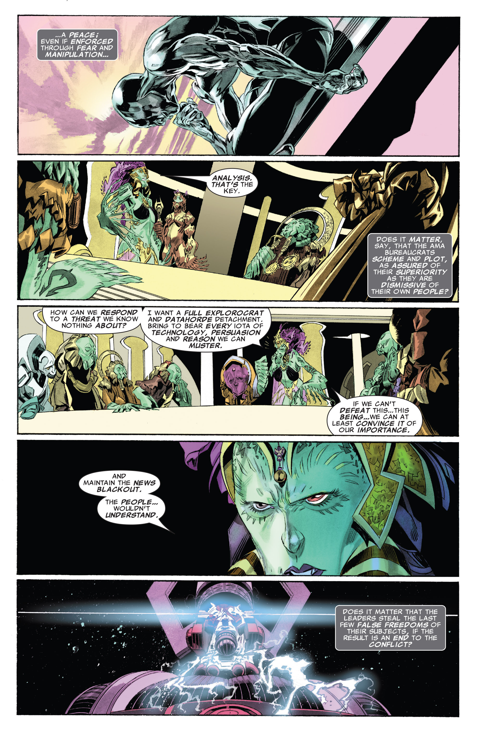 Read online Silver Surfer: In Thy Name comic -  Issue #4 - 9