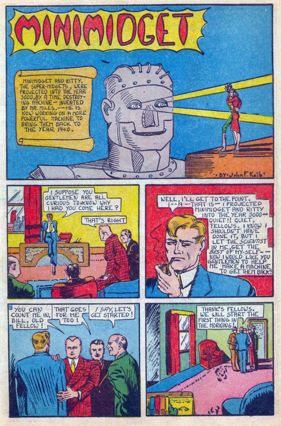 Read online Amazing Man Comics comic -  Issue #15 - 12