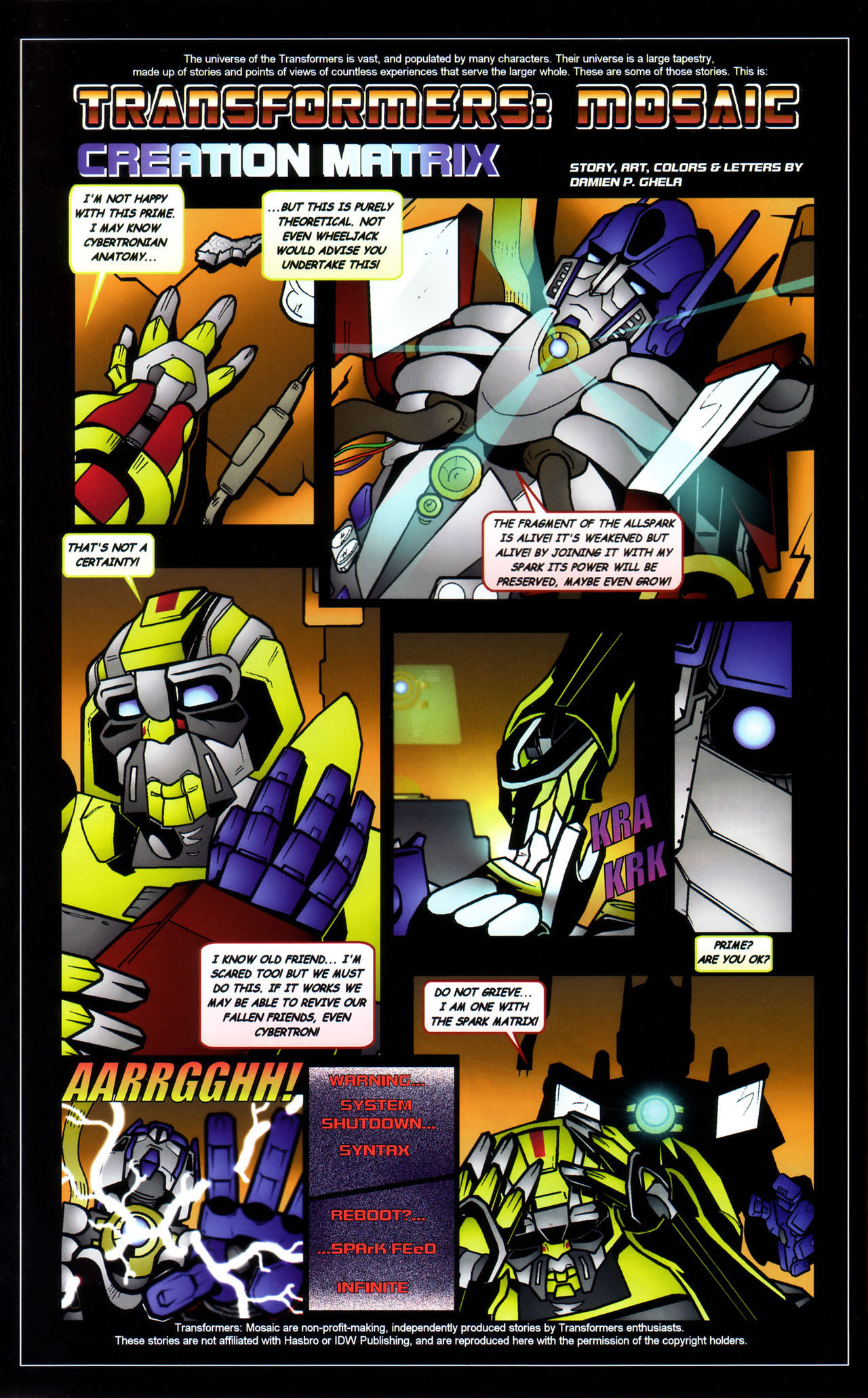 Read online Transformers: Saga of the Allspark comic -  Issue #3 - 25