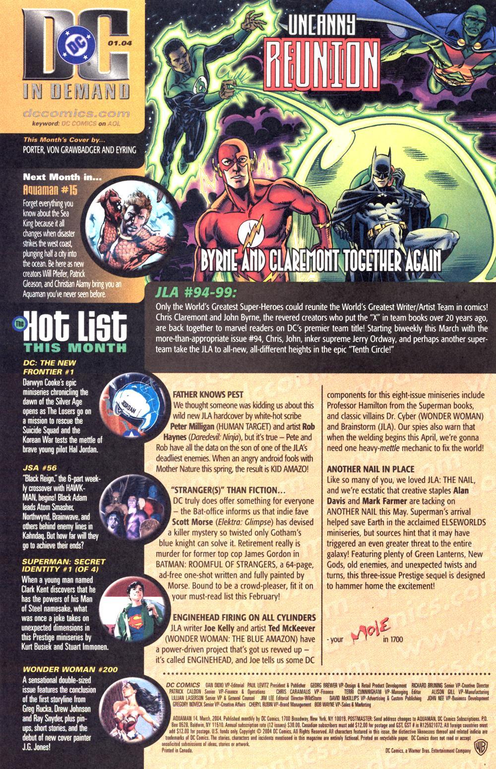 Read online Aquaman (2003) comic -  Issue #14 - 24