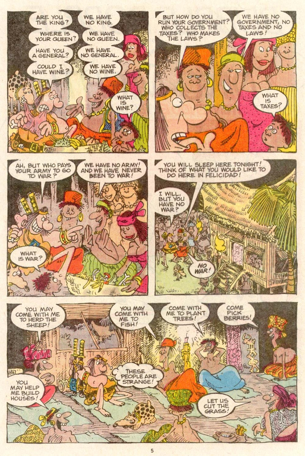 Read online Sergio Aragonés Groo the Wanderer comic -  Issue #55 - 5