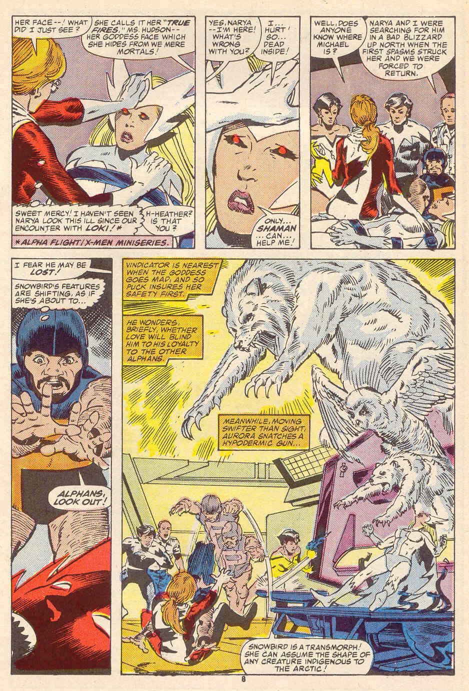 Read online Alpha Flight (1983) comic -  Issue #35 - 9