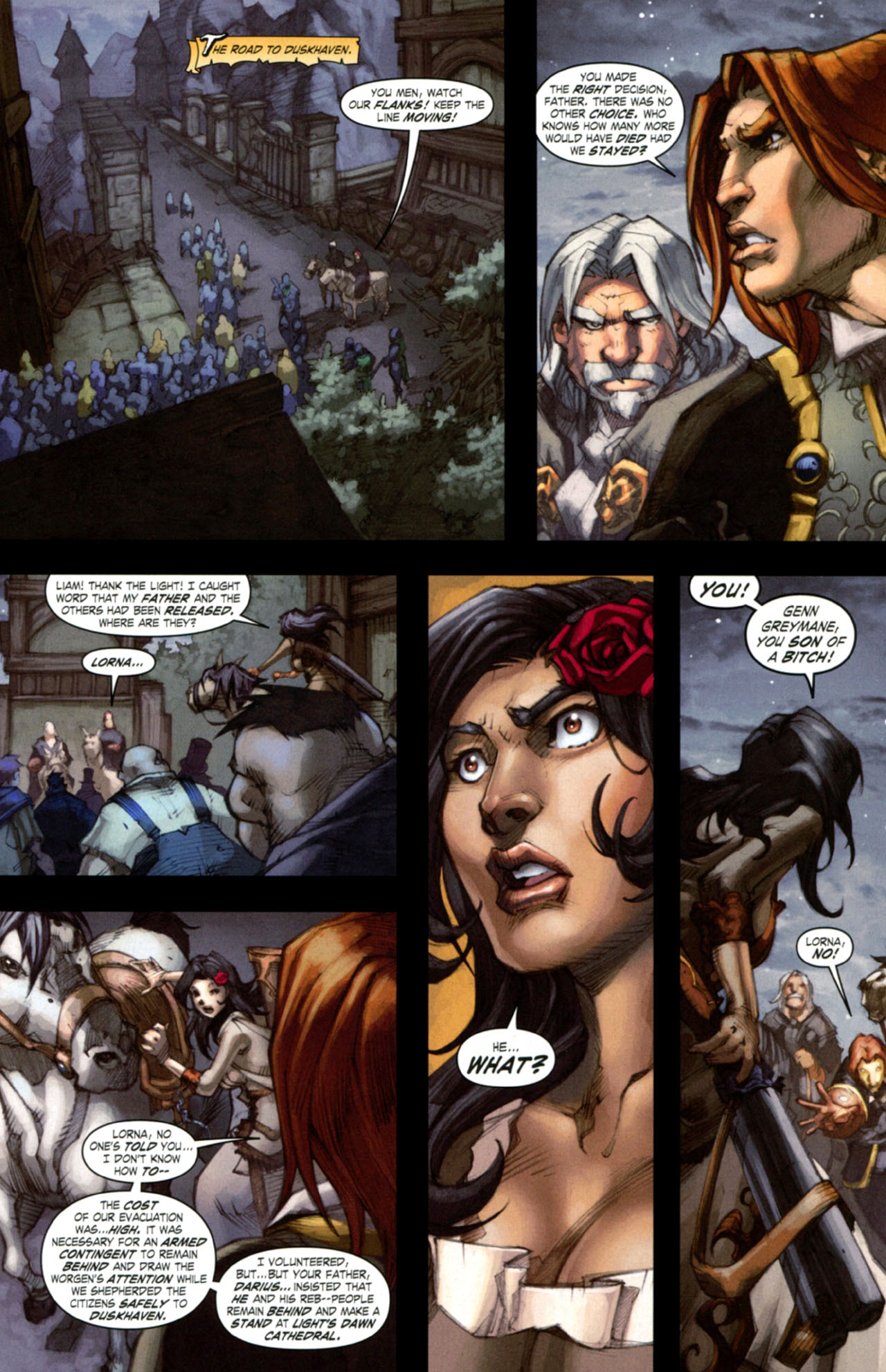 Read online World of Warcraft: Curse of the Worgen comic -  Issue #4 - 20