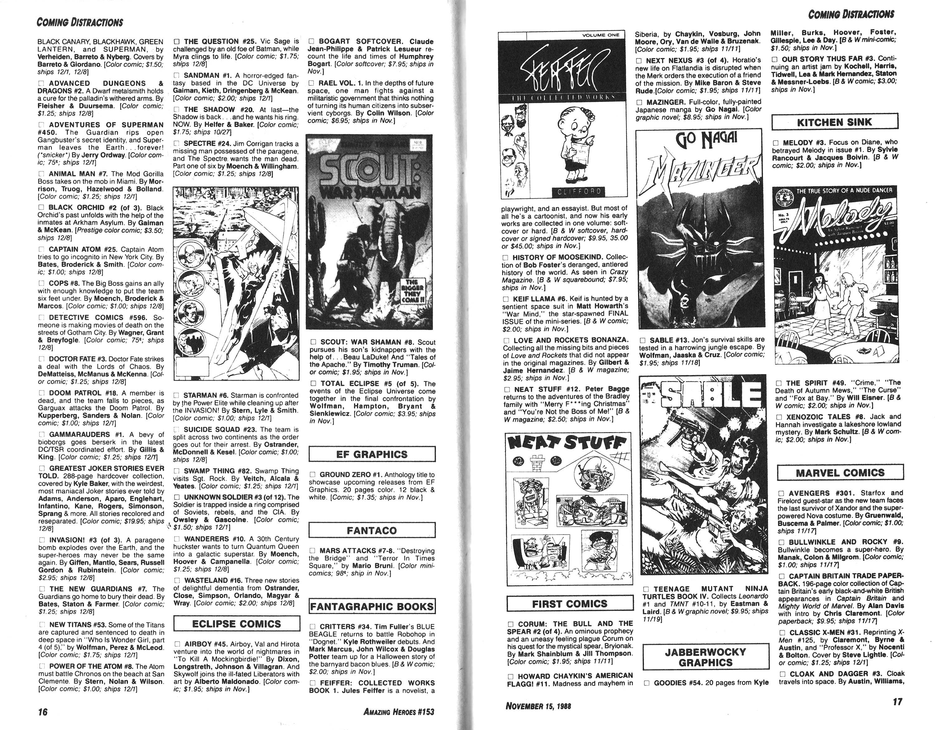 Read online Amazing Heroes comic -  Issue #153 - 9
