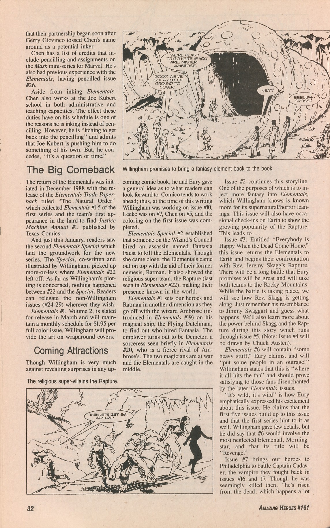 Read online Amazing Heroes comic -  Issue #161 - 32