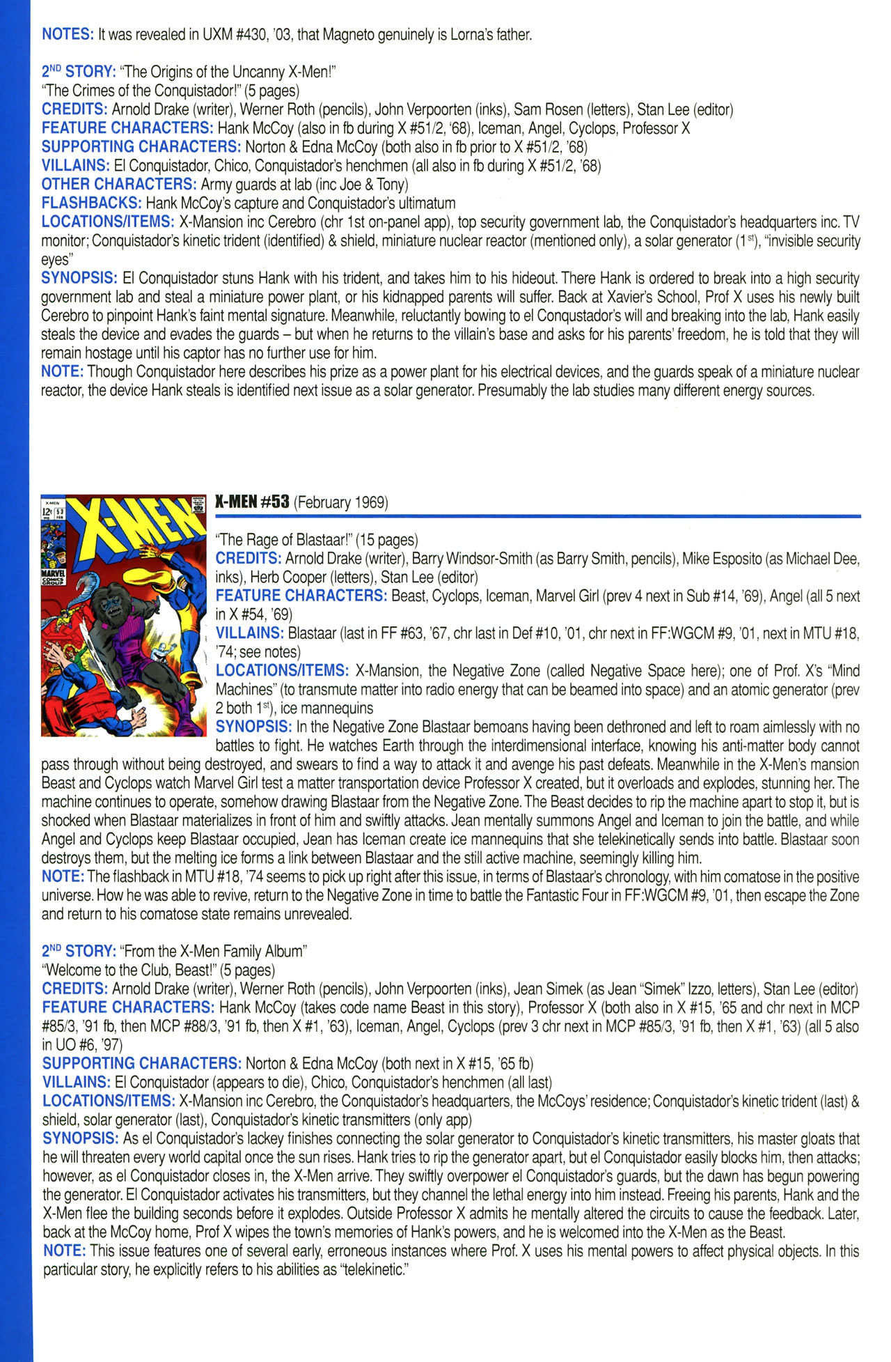 Read online Official Index to the Marvel Universe comic -  Issue #2 - 46