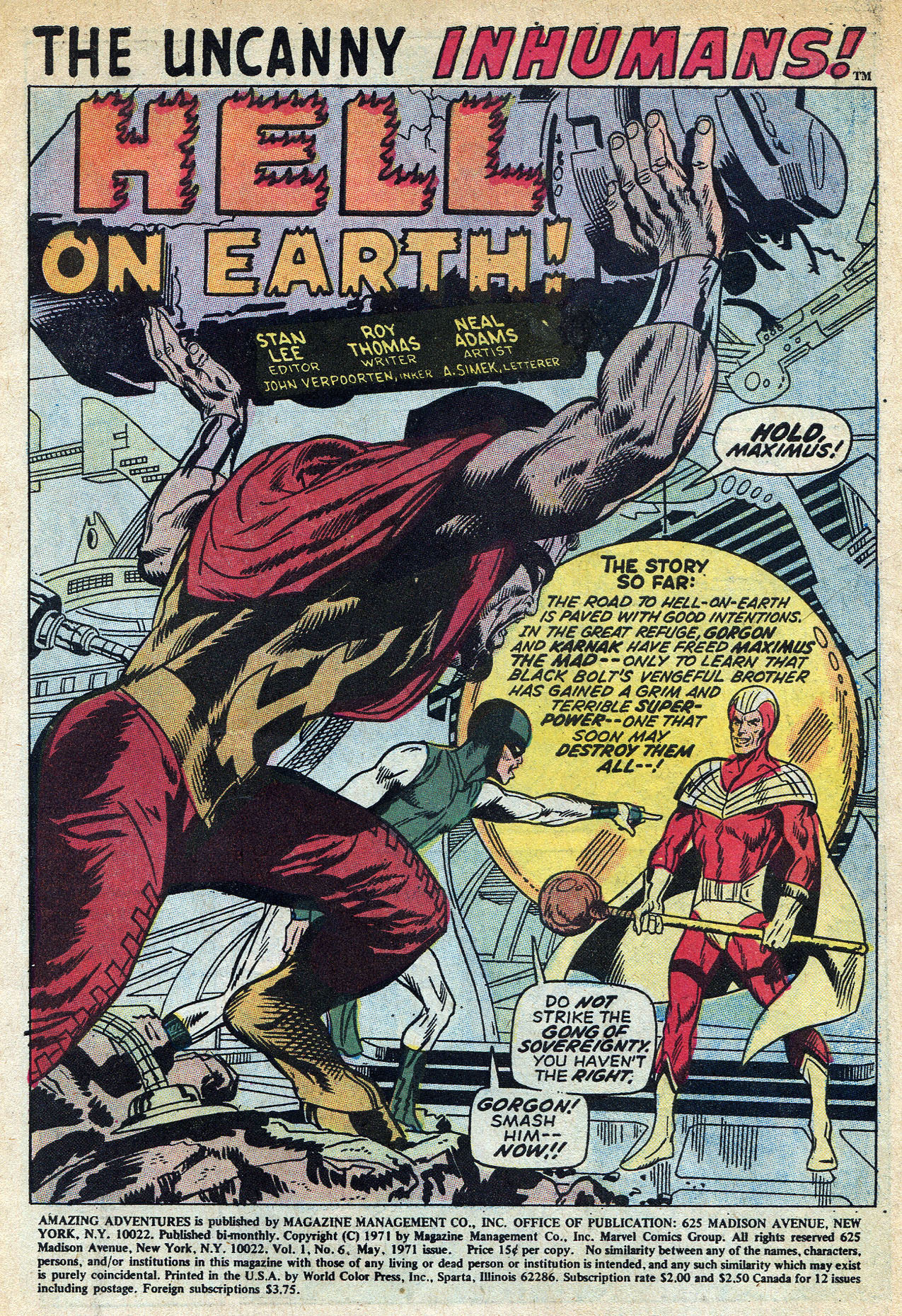 Read online Amazing Adventures (1970) comic -  Issue #6 - 3