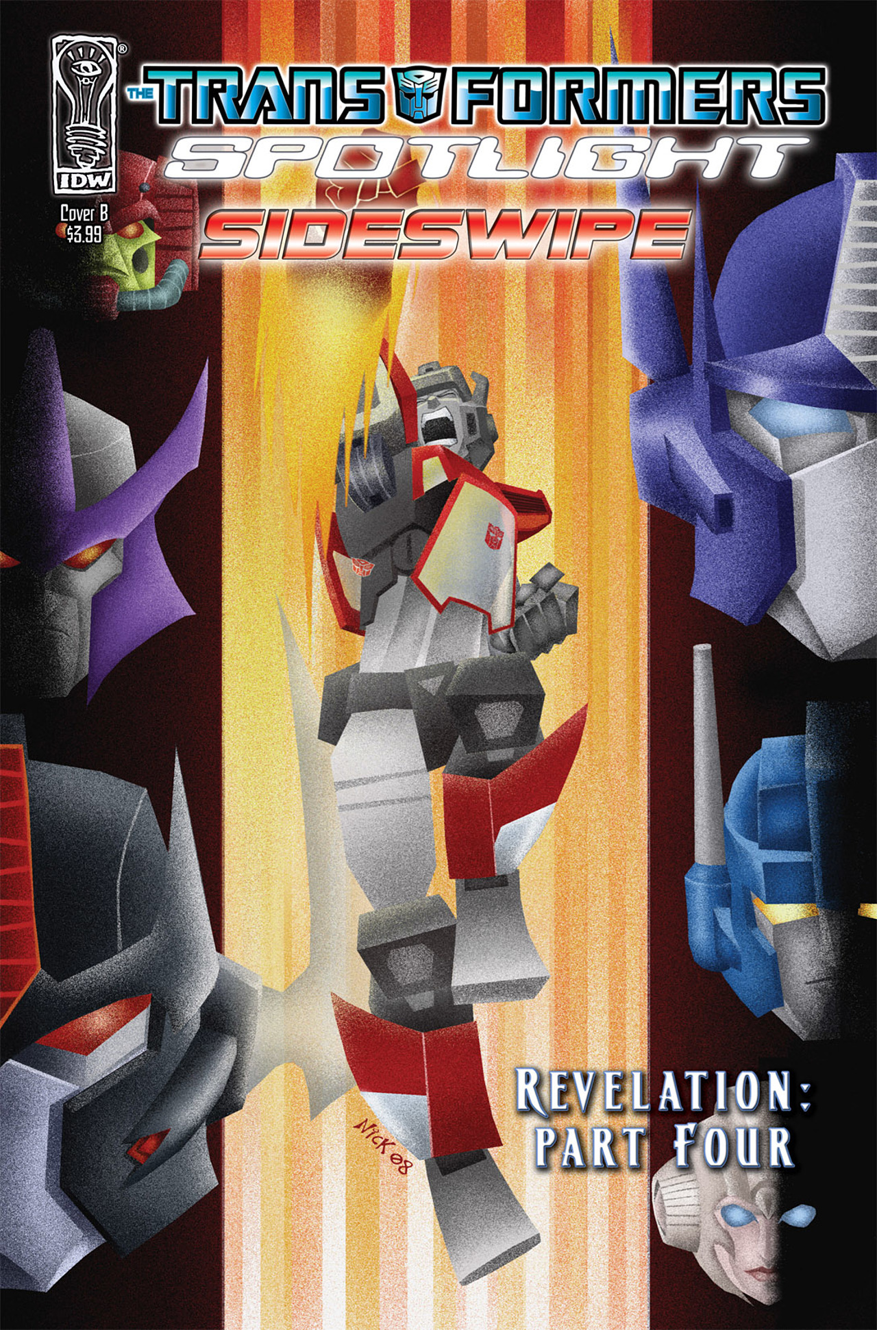 Read online Transformers Spotlight: Sideswipe comic -  Issue # Full - 2