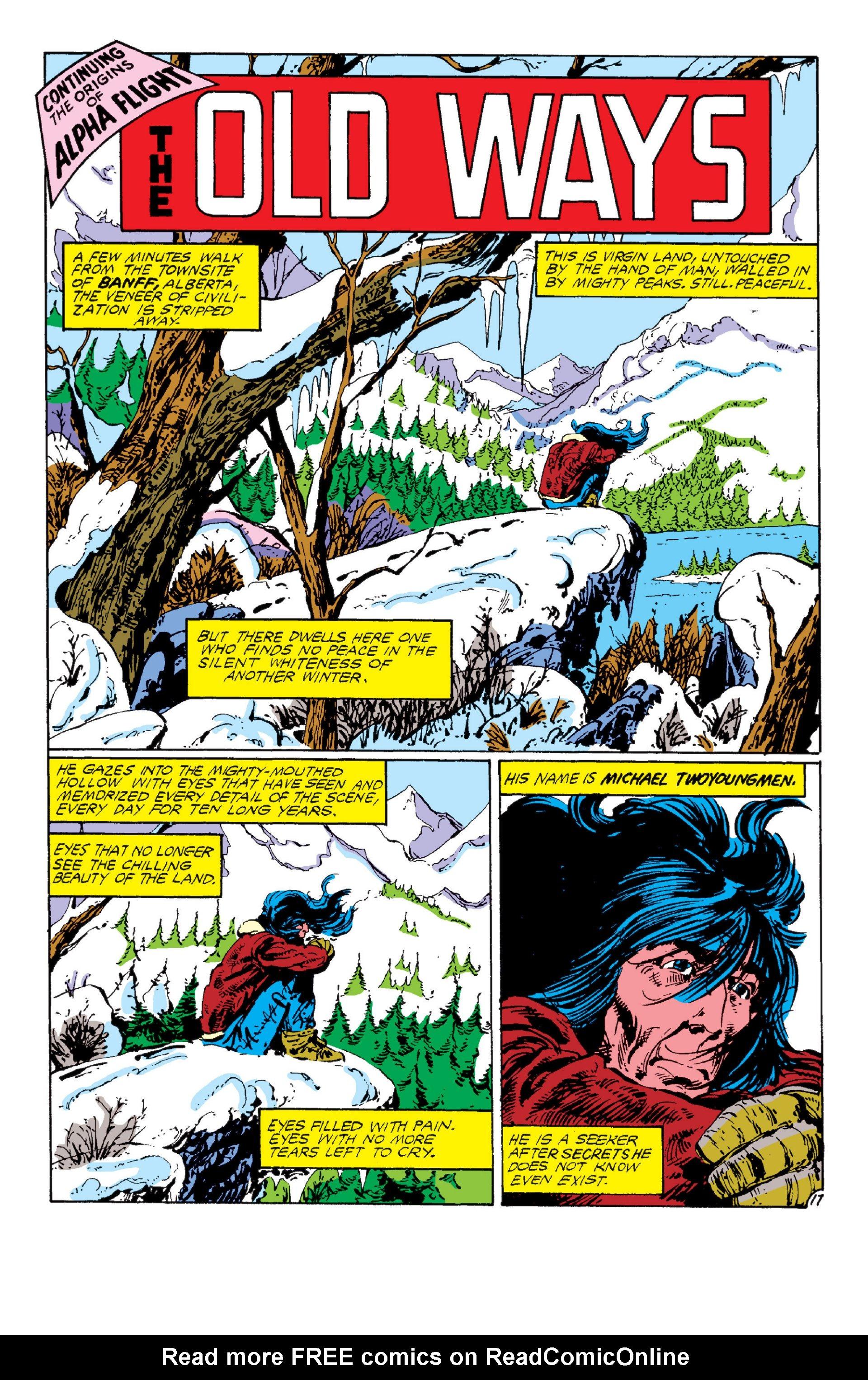 Read online Alpha Flight (1983) comic -  Issue #6 - 17