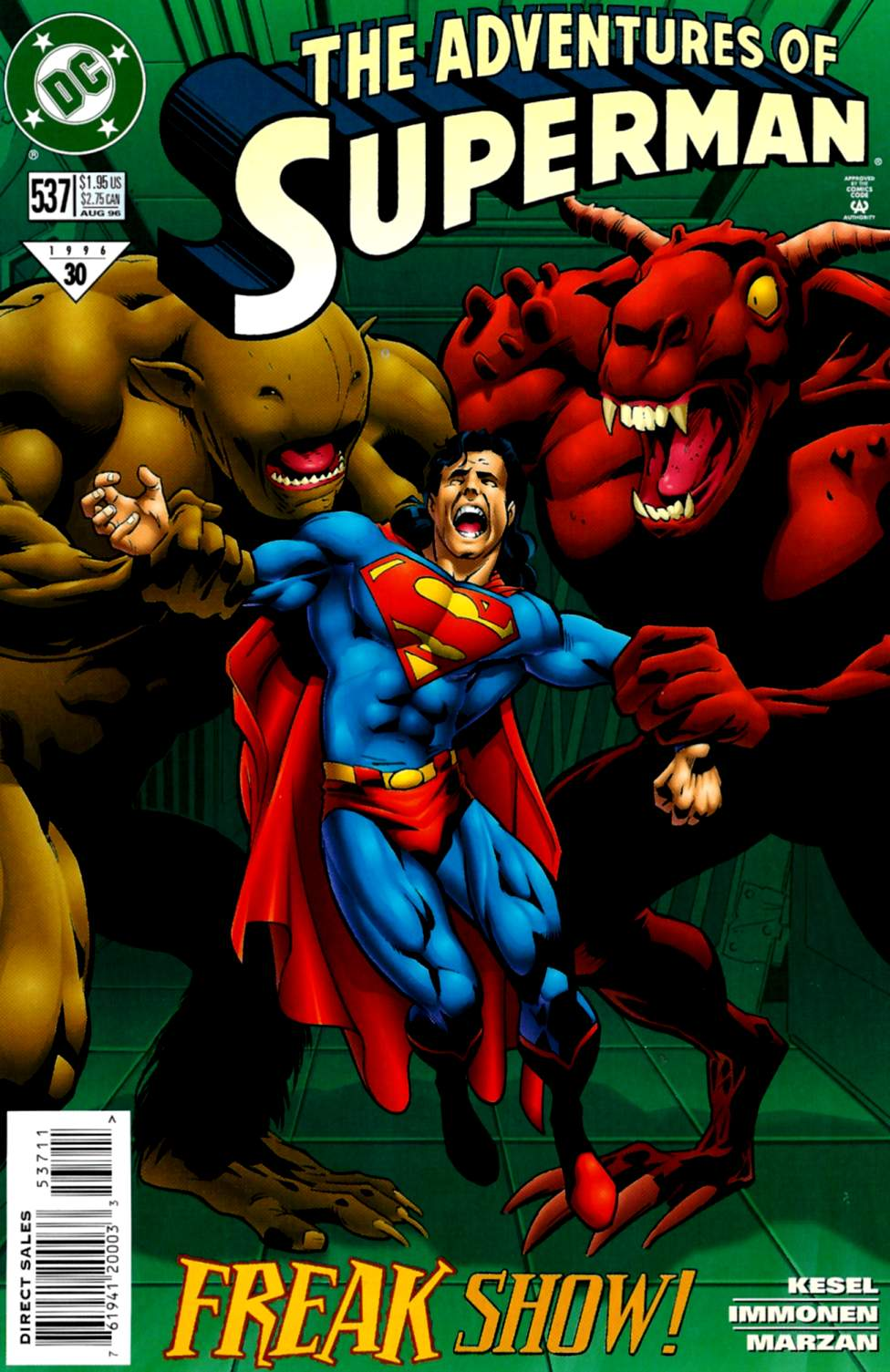 Read online Adventures of Superman (1987) comic -  Issue #537 - 1