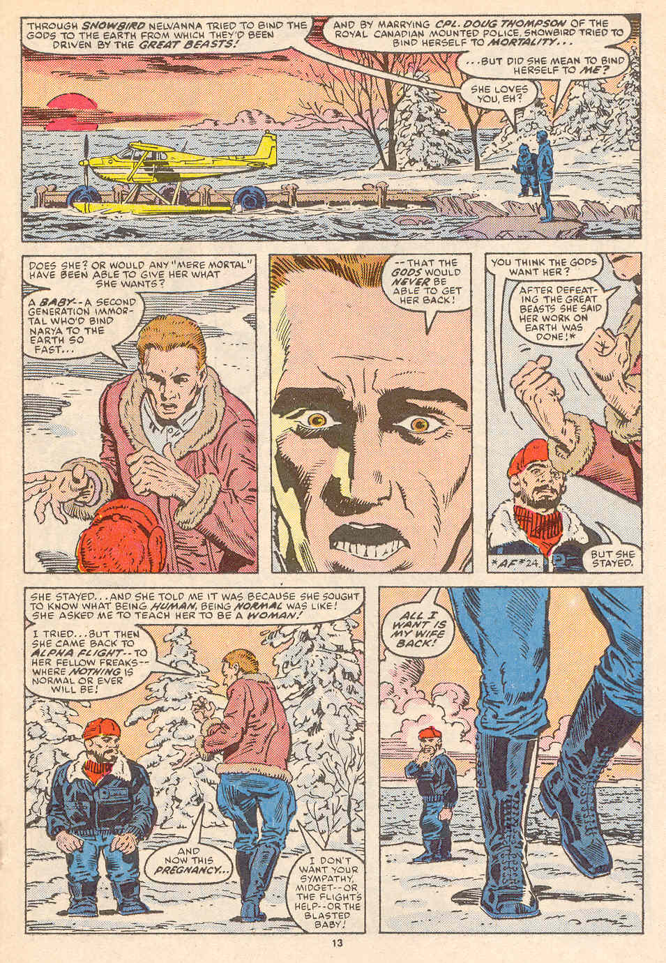 Read online Alpha Flight (1983) comic -  Issue #36 - 14