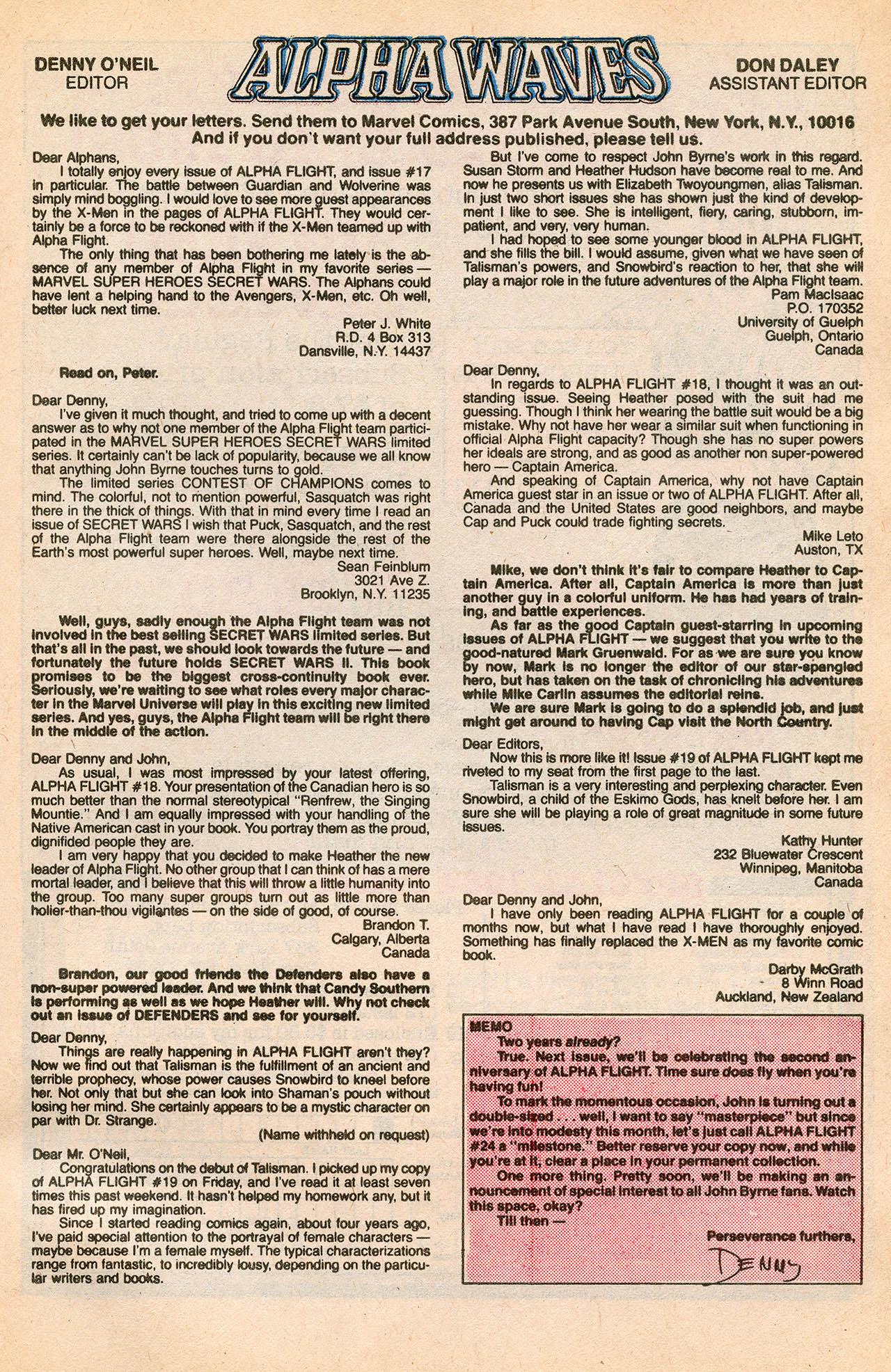 Read online Alpha Flight (1983) comic -  Issue #23 - 33