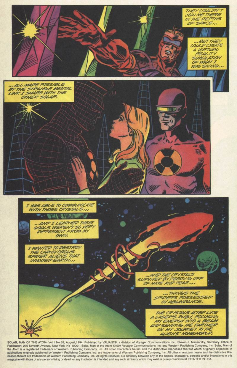 Read online Solar, Man of the Atom comic -  Issue #35 - 3