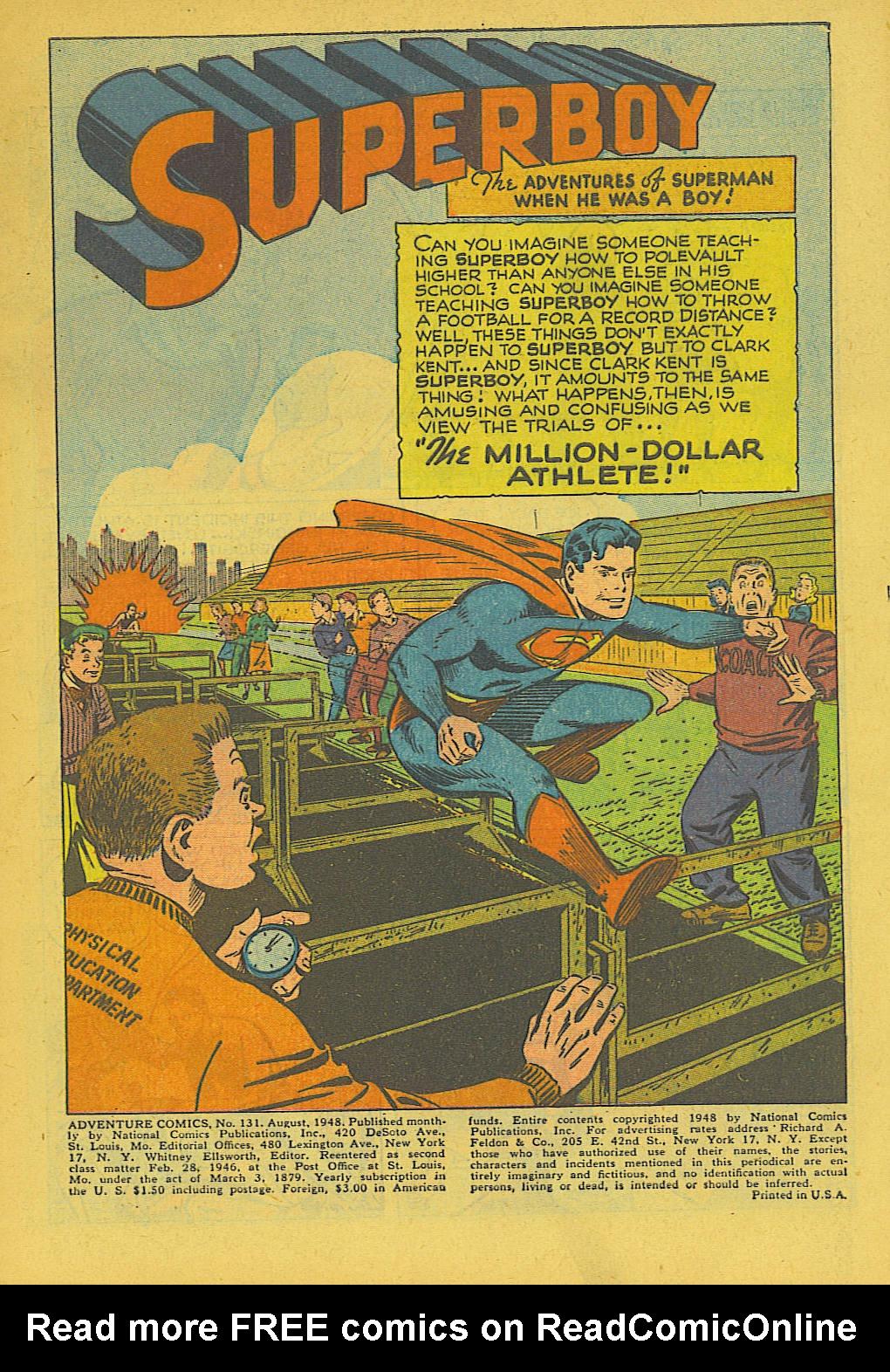 Read online Adventure Comics (1938) comic -  Issue #131 - 2