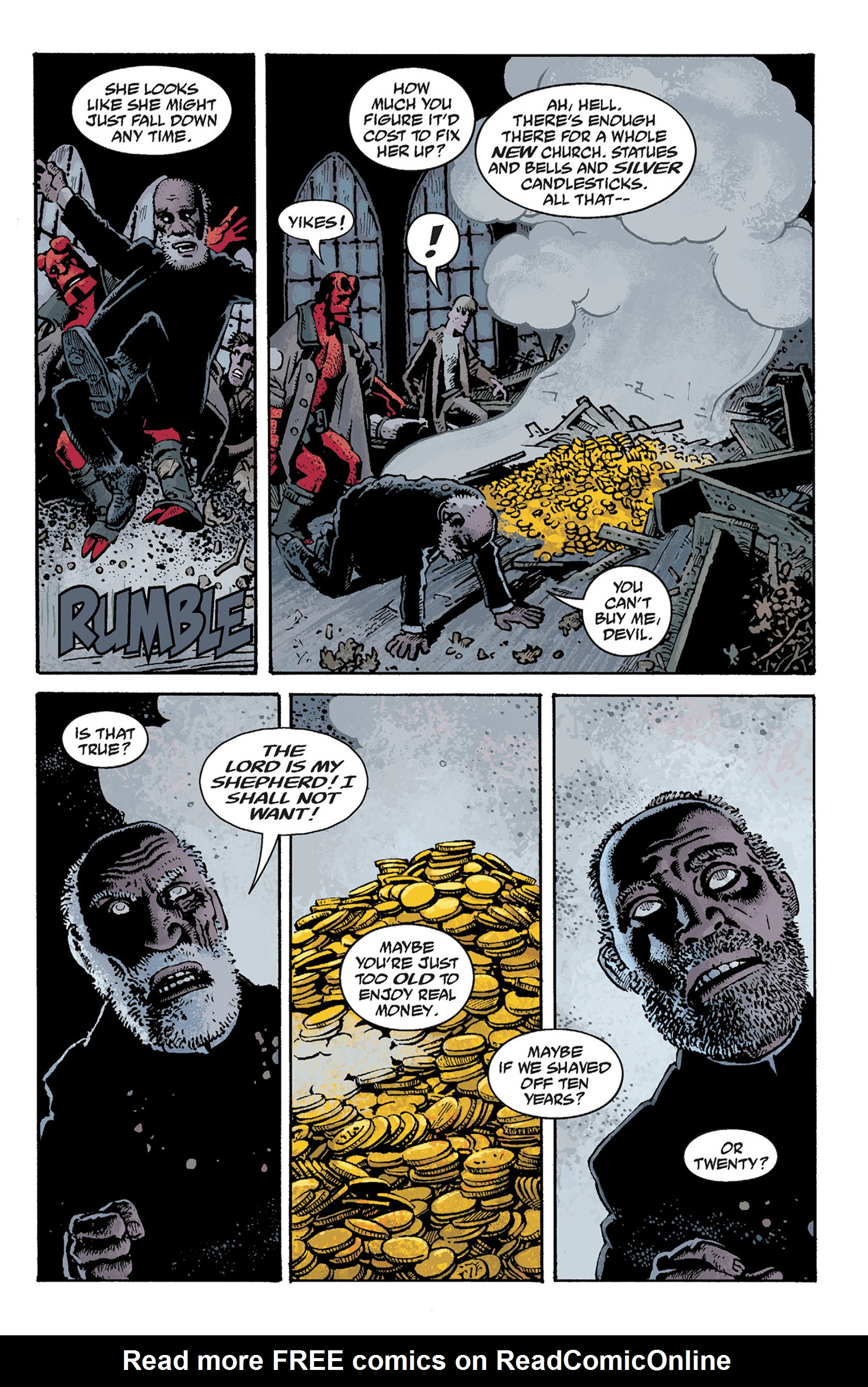 Read online Hellboy: The Crooked Man and Others comic -  Issue # TPB - 63