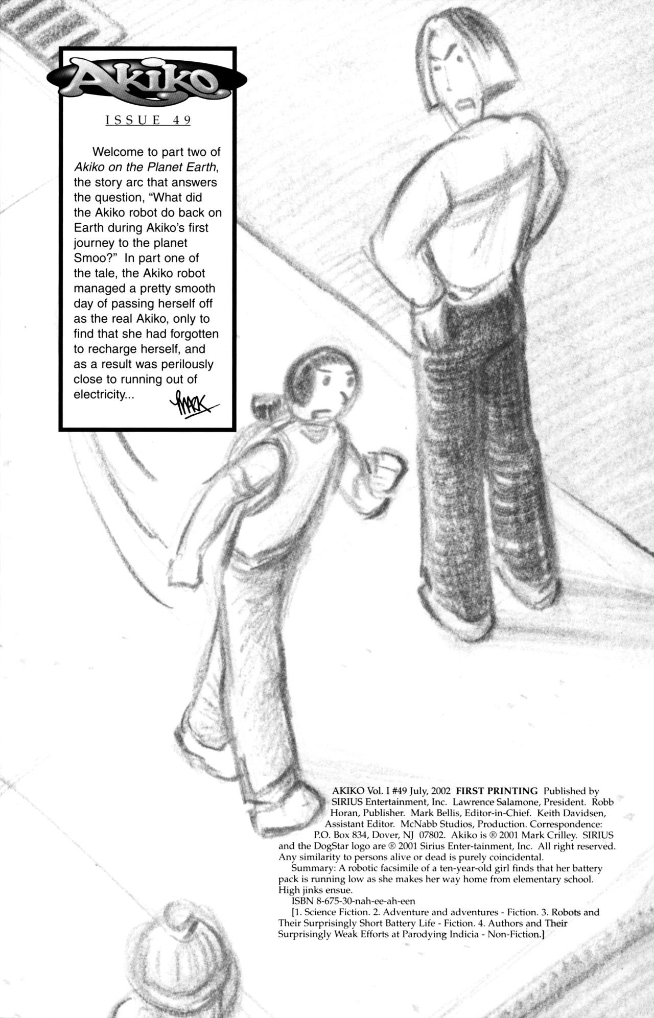 Read online Akiko comic -  Issue #49 - 2