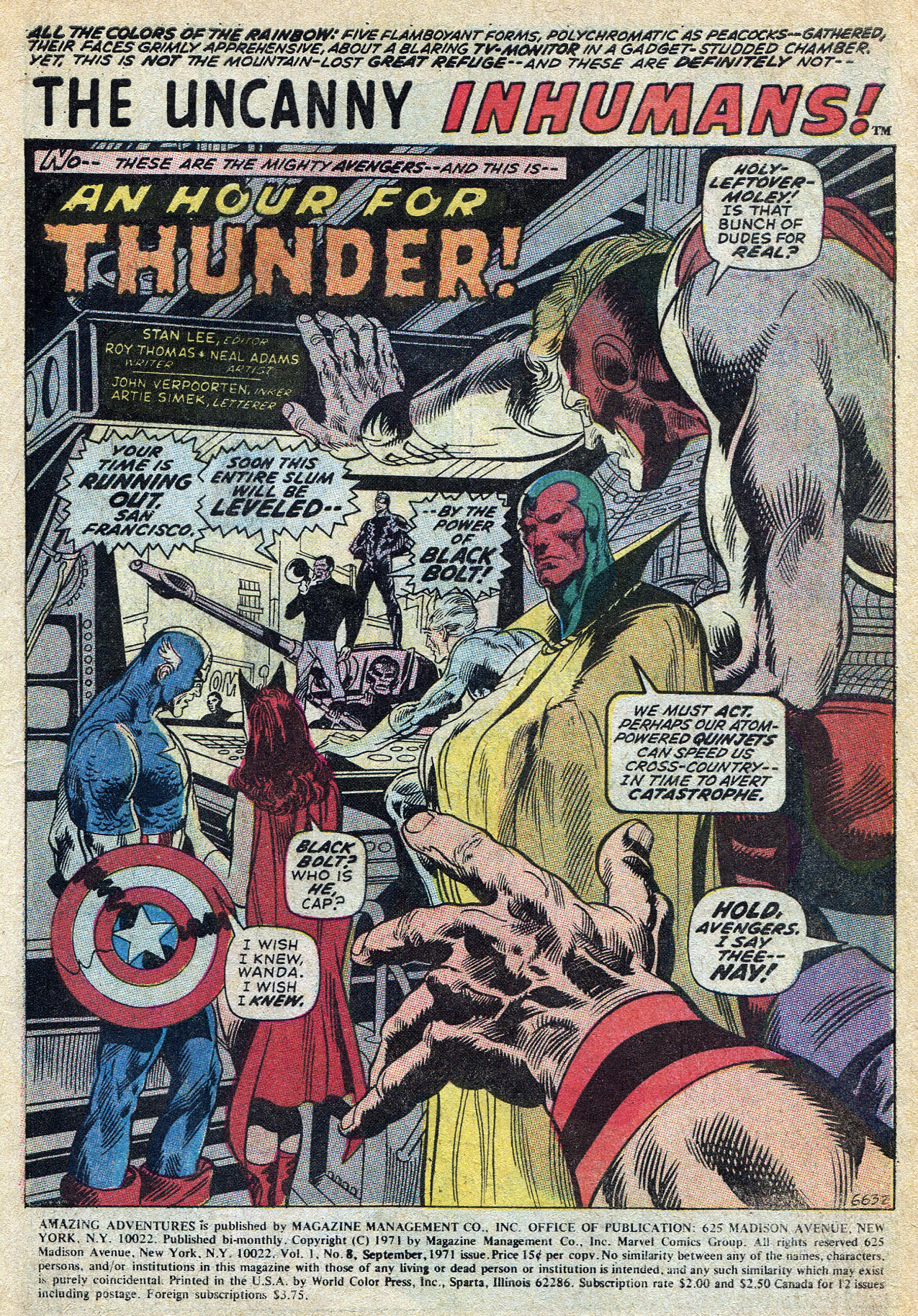 Read online Amazing Adventures (1970) comic -  Issue #8 - 3
