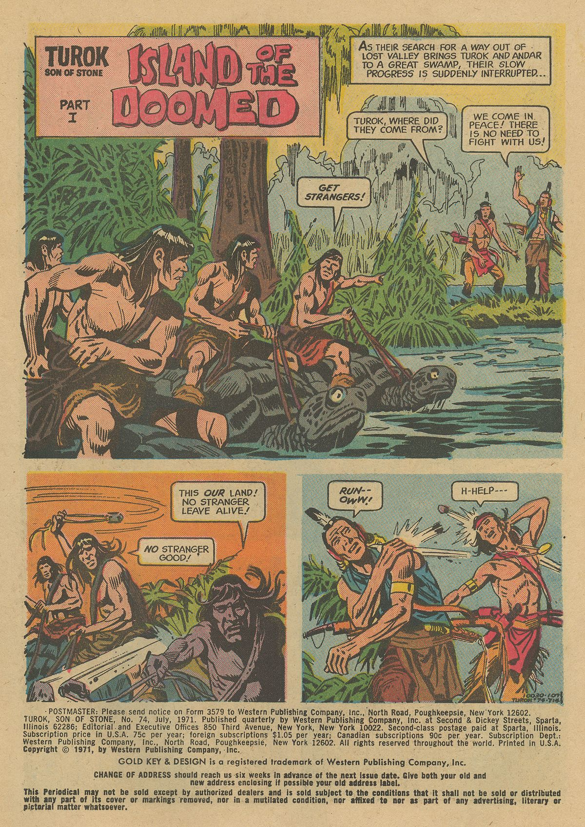 Read online Turok, Son of Stone comic -  Issue #74 - 3