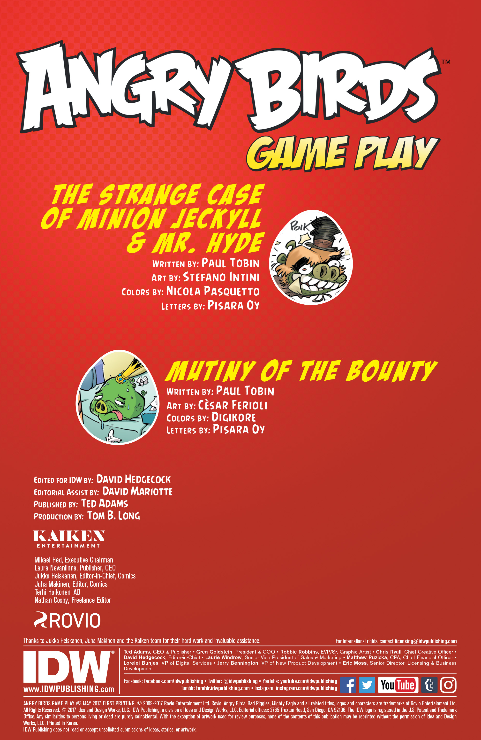 Read online Angry Birds Comics: Game Play comic -  Issue #3 - 2