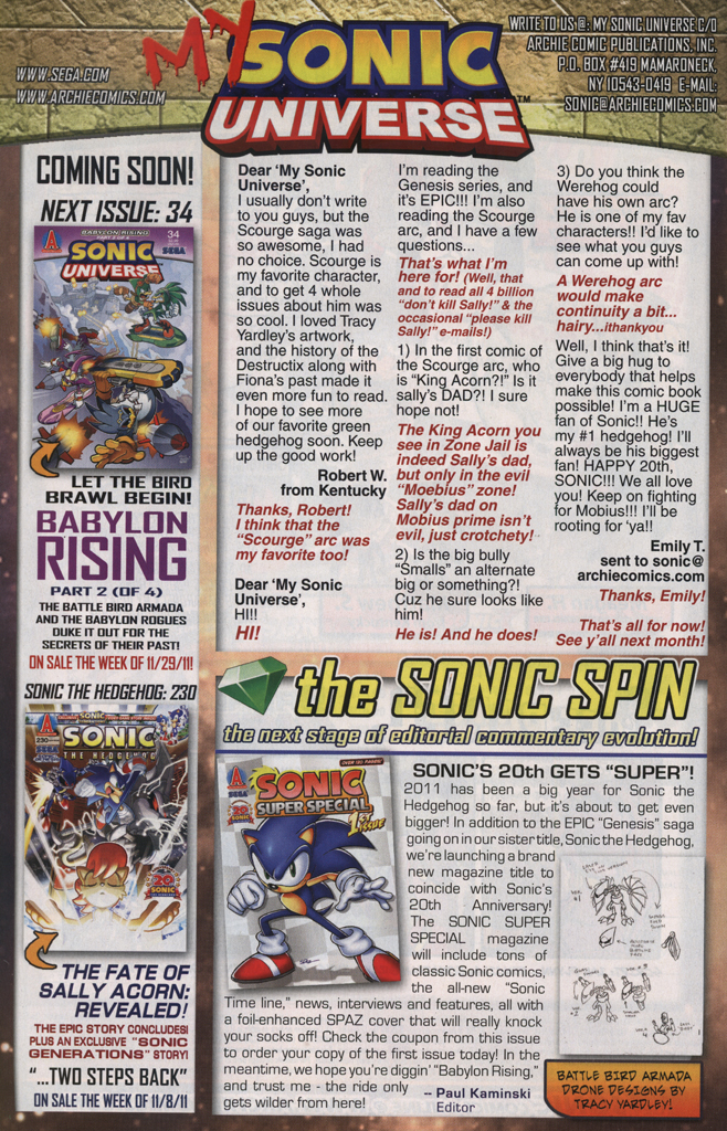 Read online Sonic Universe comic -  Issue #33 - 34