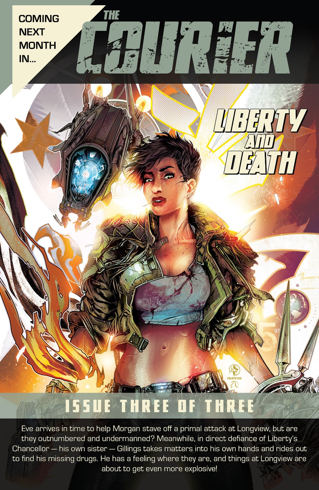 The Courier: Liberty & Death issue 2 - Page 34