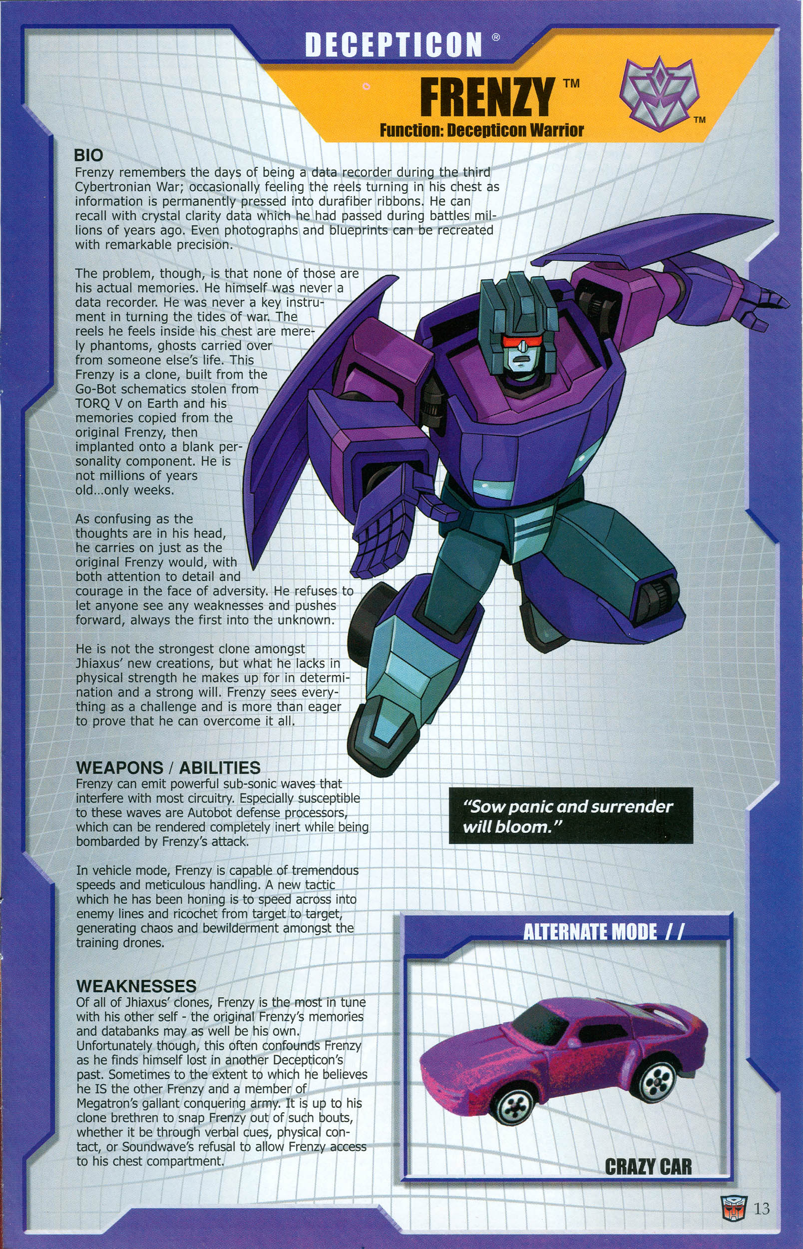 Read online Transformers: Collectors' Club comic -  Issue #48 - 13