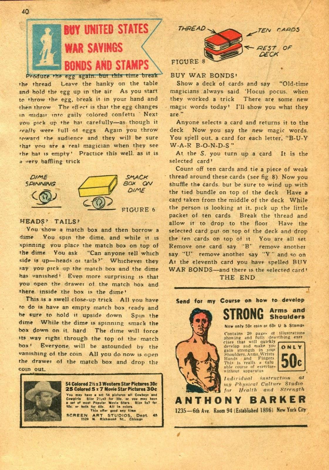 Read online Super-Magician Comics comic -  Issue #11 - 40