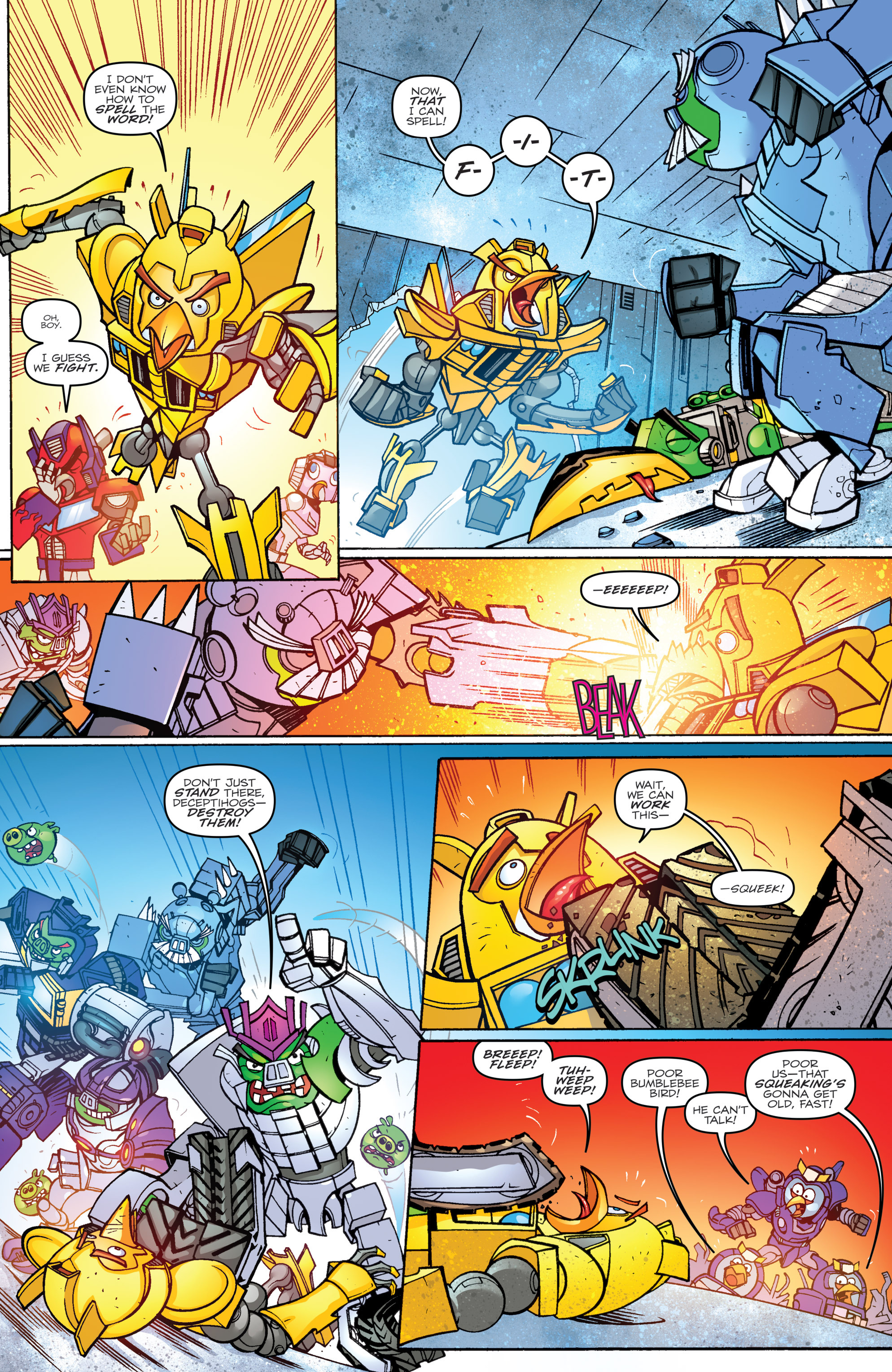 Read online Angry Birds Transformers comic -  Issue #2 - 18