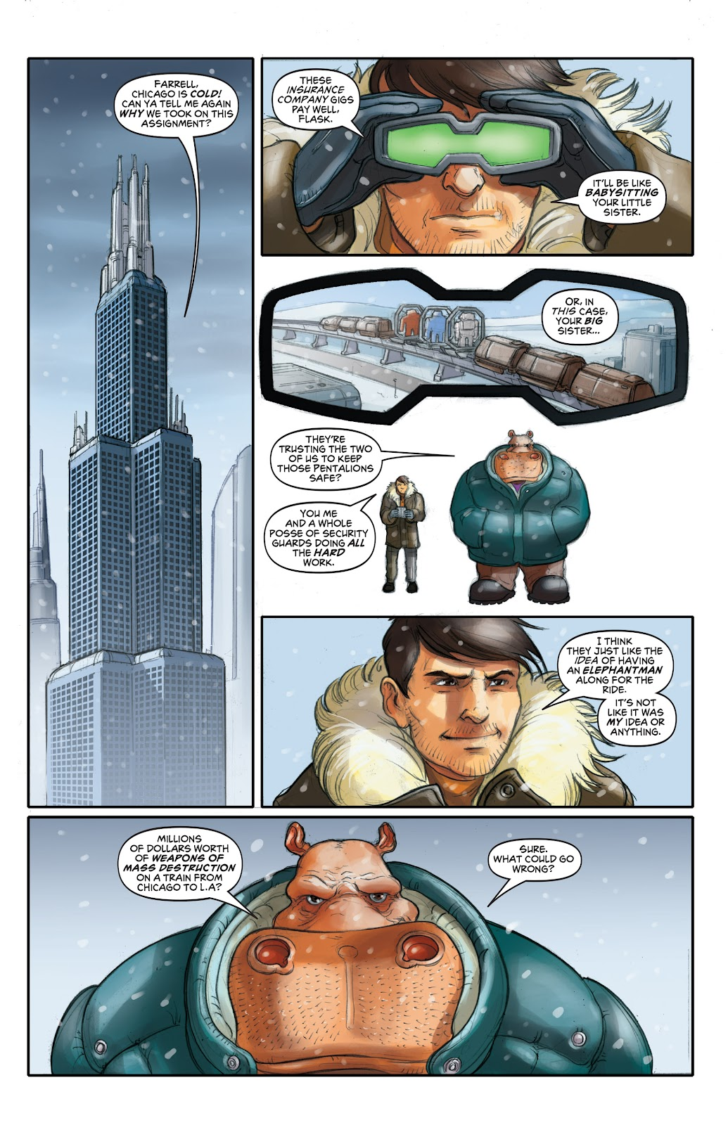 Read online Elephantmen 2261 Season Two: The Pentalion Job comic -  Issue # TPB - 28