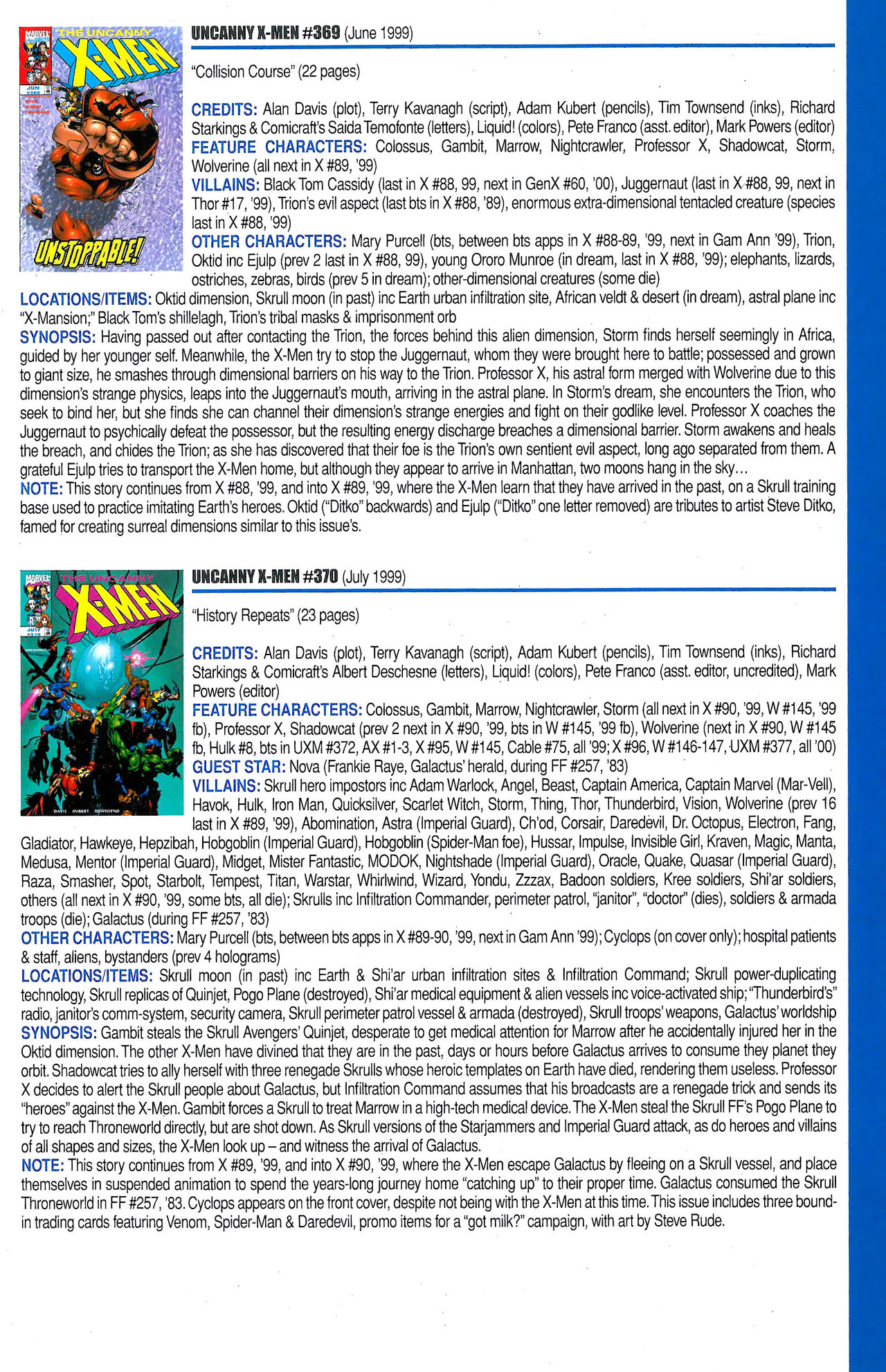 Read online Official Index to the Marvel Universe comic -  Issue #9 - 63