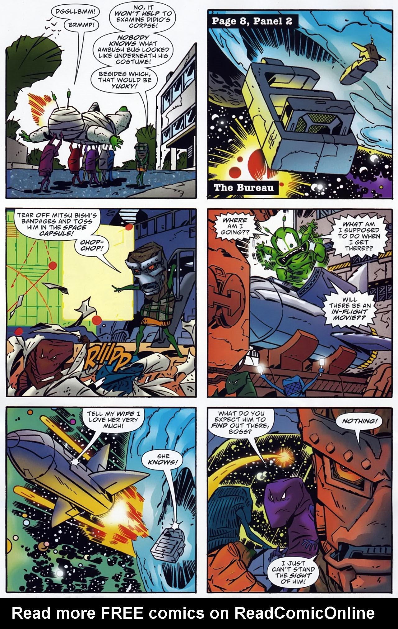 Read online Ambush Bug: Year None comic -  Issue #4 - 9