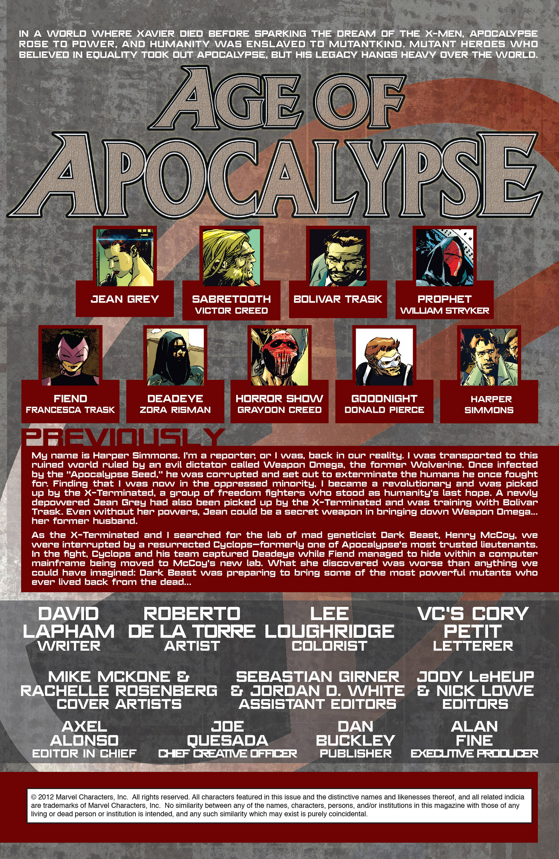 Read online Age of Apocalypse (2012) comic -  Issue #3 - 2