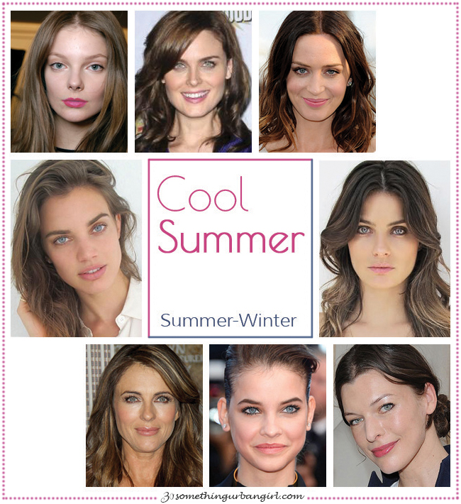 Cool Summer, Summer-Winter seasonal color celebrities by 30somethingurbangirl.com