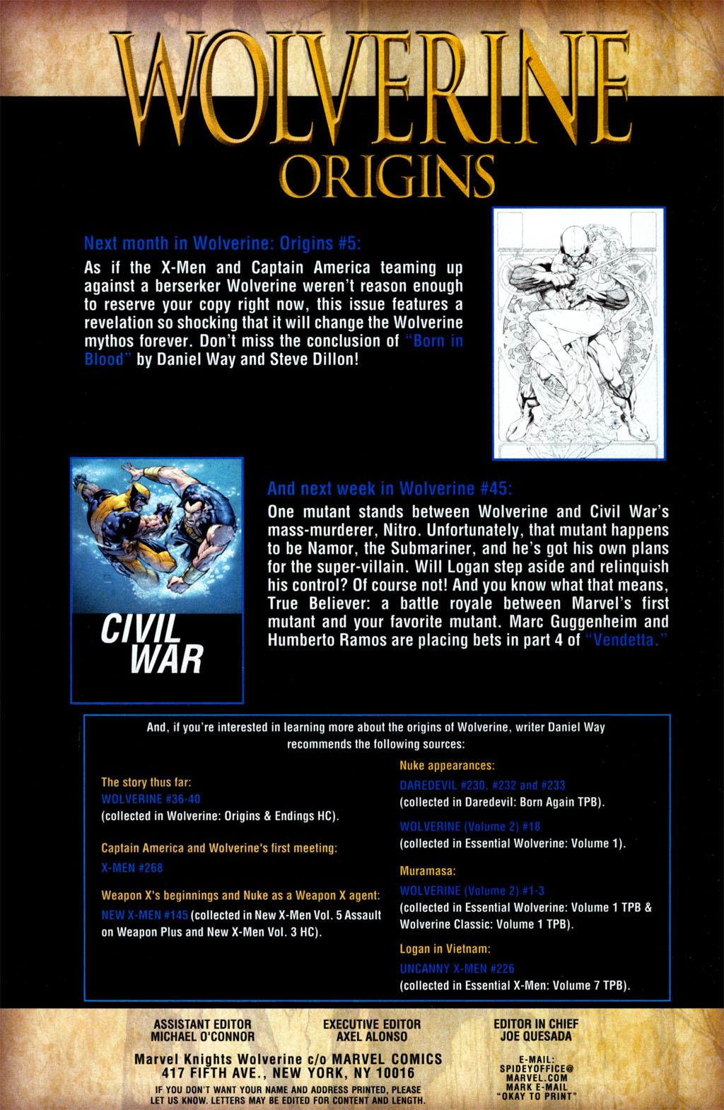 Read online Wolverine: Origins comic -  Issue #4 - 26