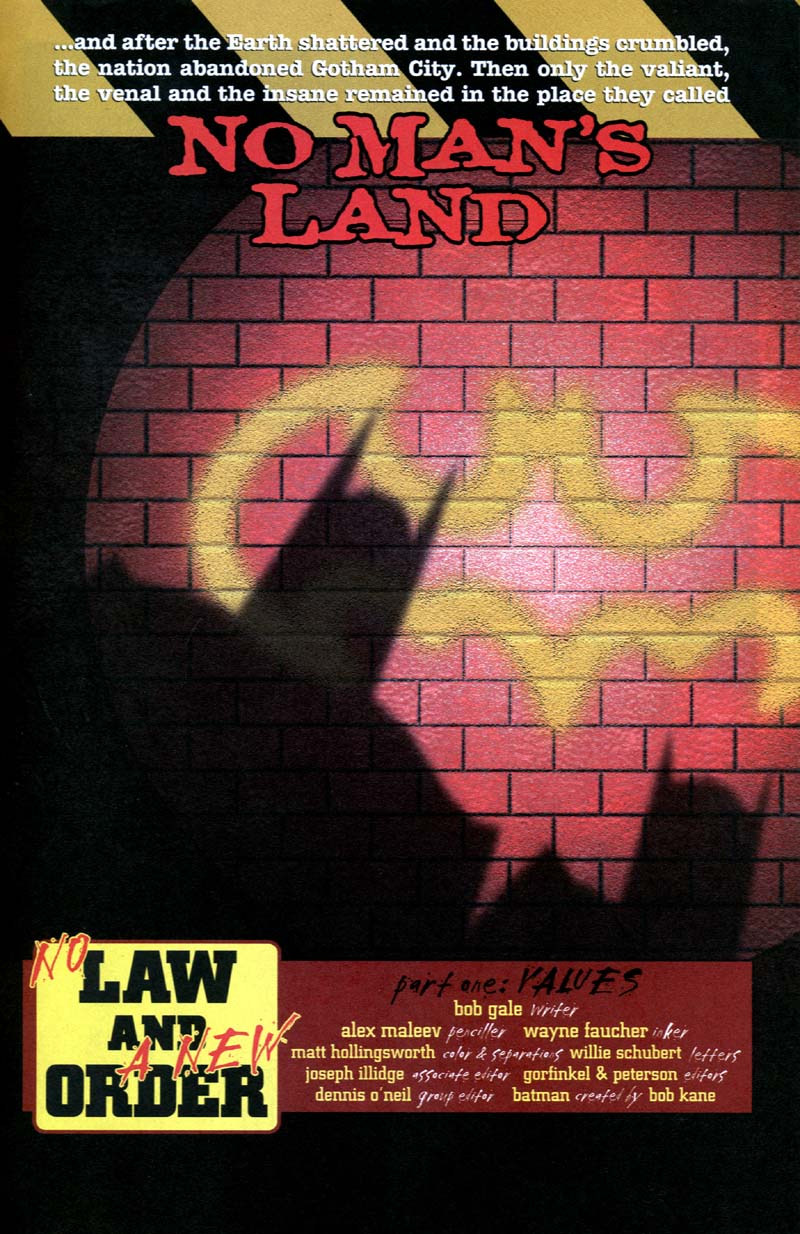 Read online Batman: No Man's Land comic -  Issue #1 - 2
