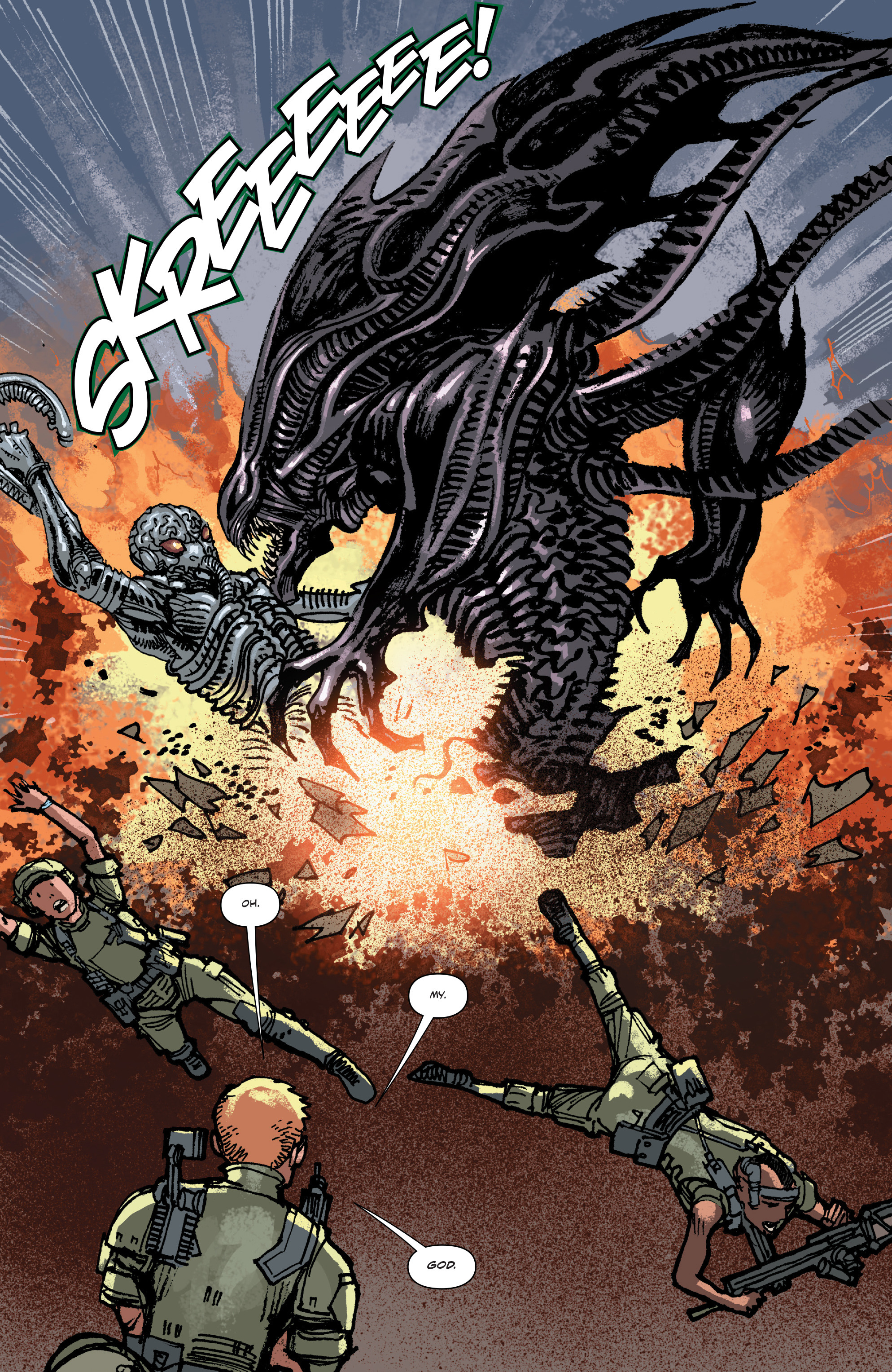 Read online Aliens: Life And Death comic -  Issue #4 - 16