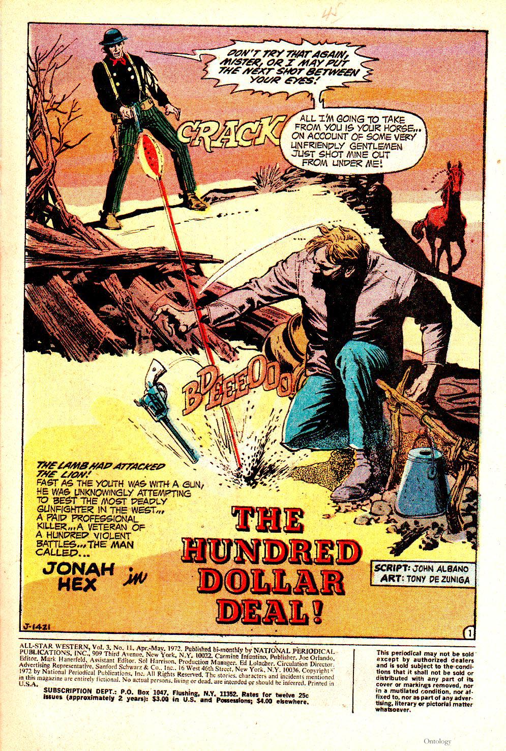 Read online All-Star Western (1970) comic -  Issue #11 - 3