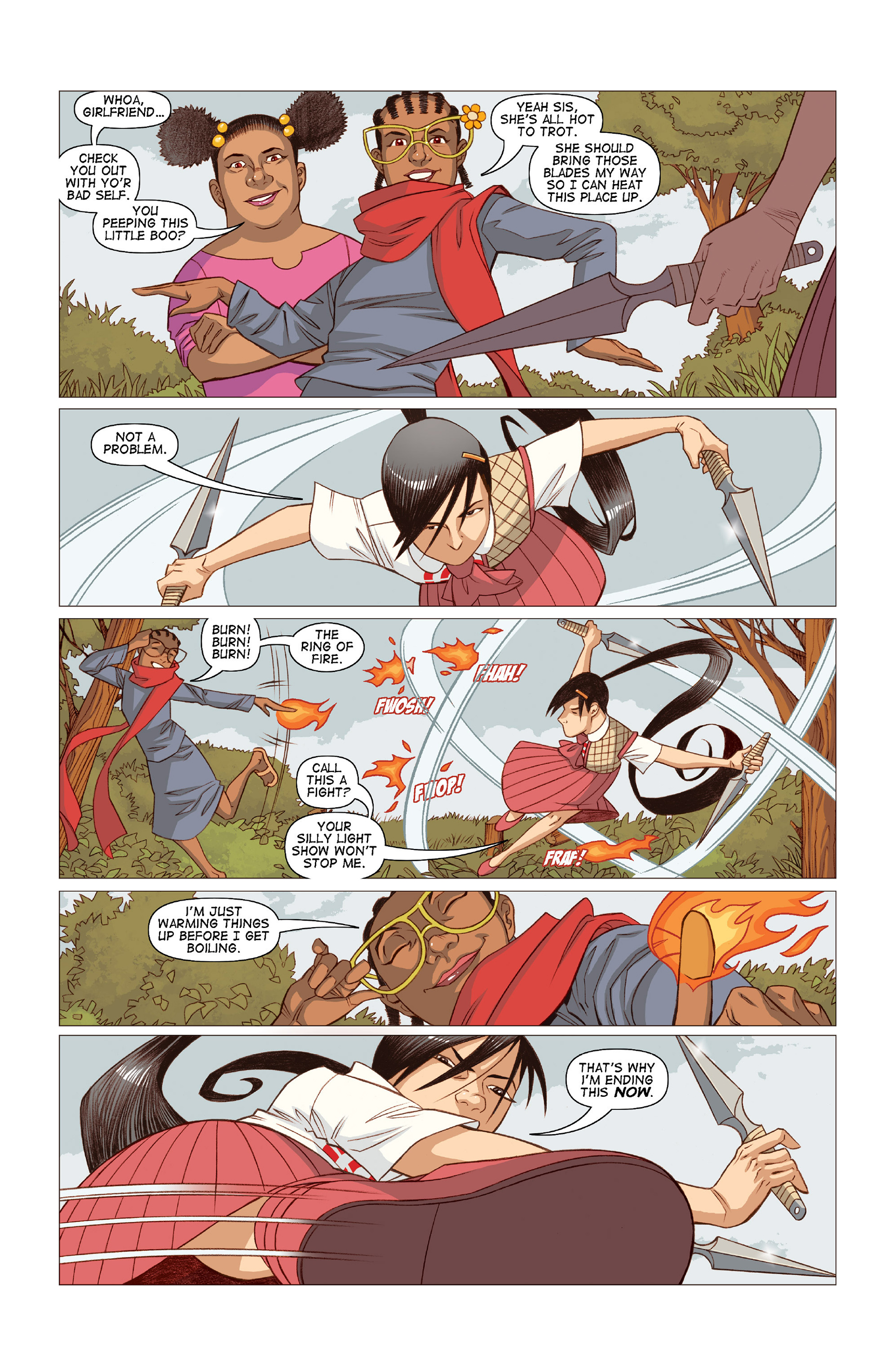 Read online Five Weapons comic -  Issue #10 - 14