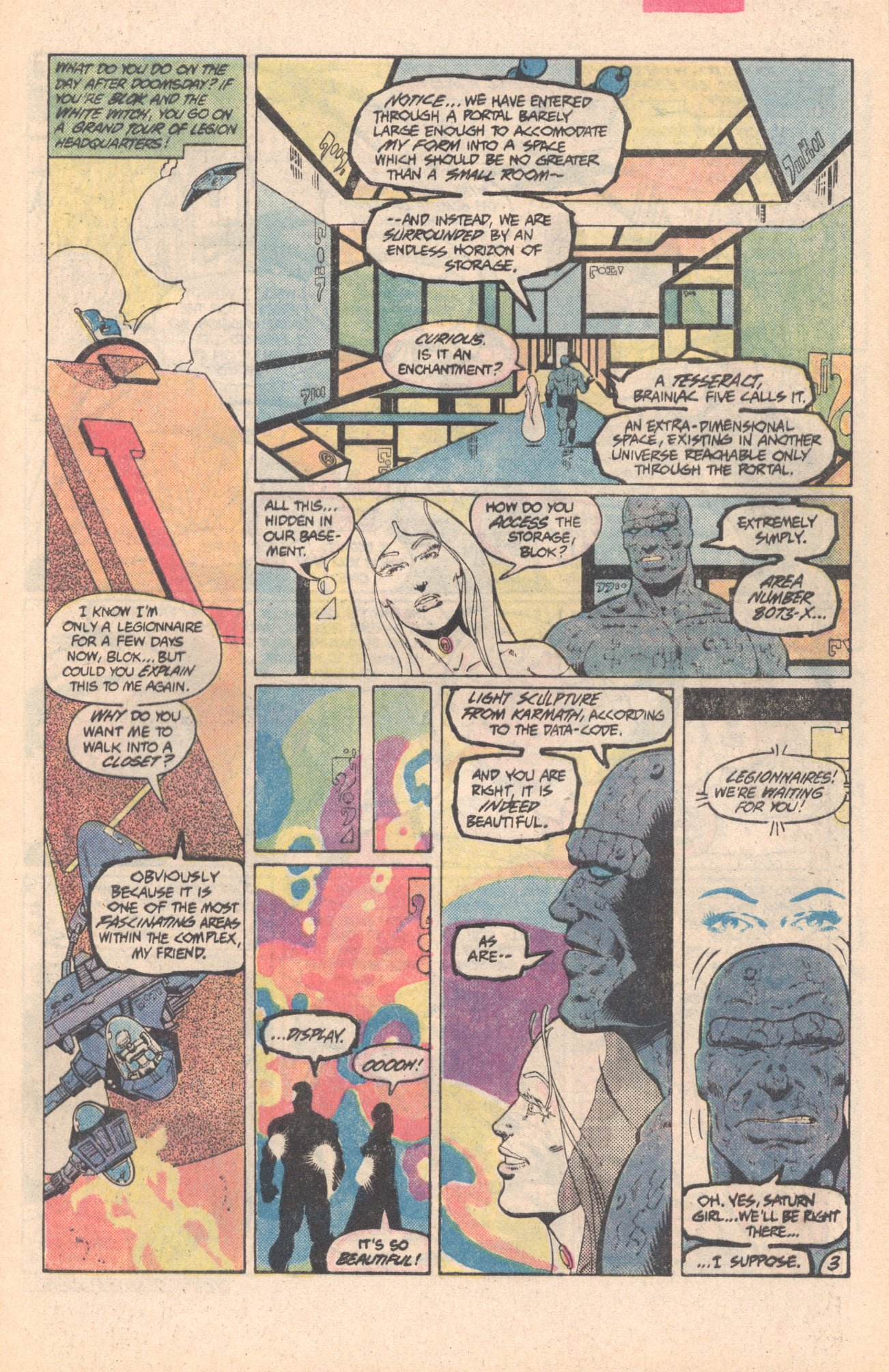 Legion of Super-Heroes (1980) 296 Page 3