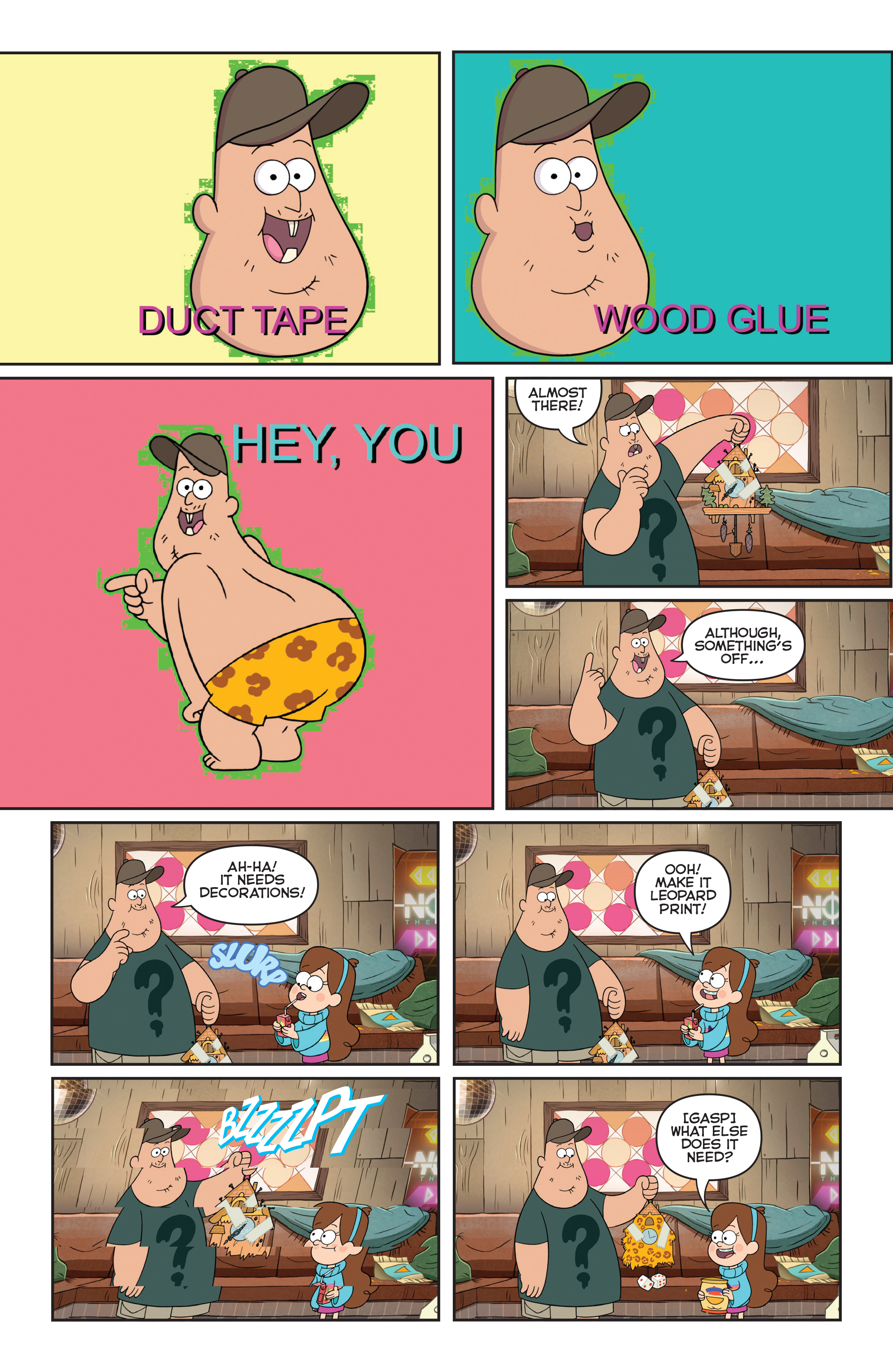 Read online Disney Gravity Falls Shorts Cinestory Comic comic -  Issue #1 - 24