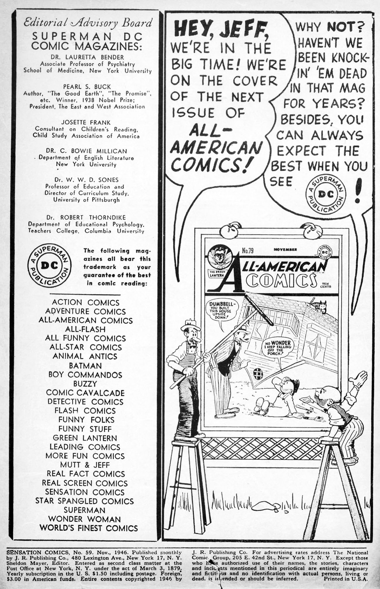 Read online Sensation (Mystery) Comics comic -  Issue #59 - 2