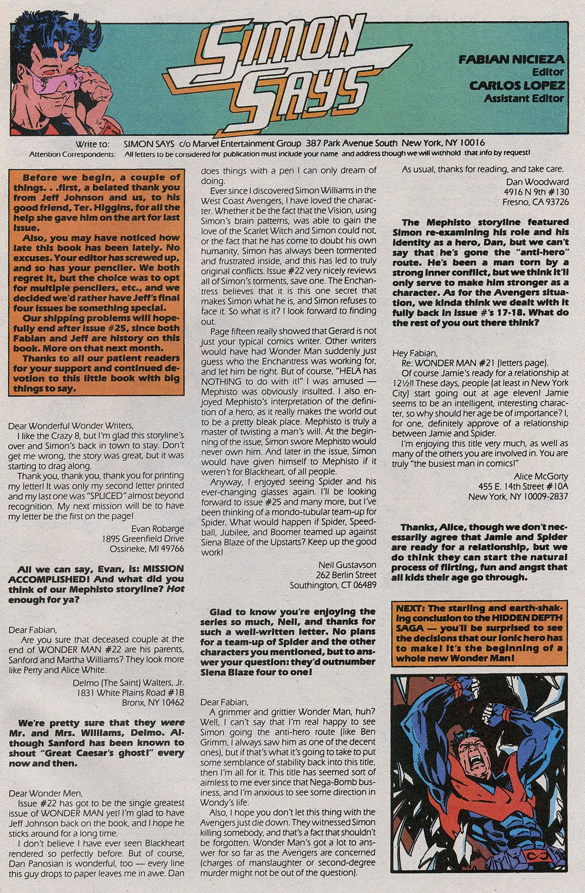 Read online Wonder Man (1991) comic -  Issue #24 - 24