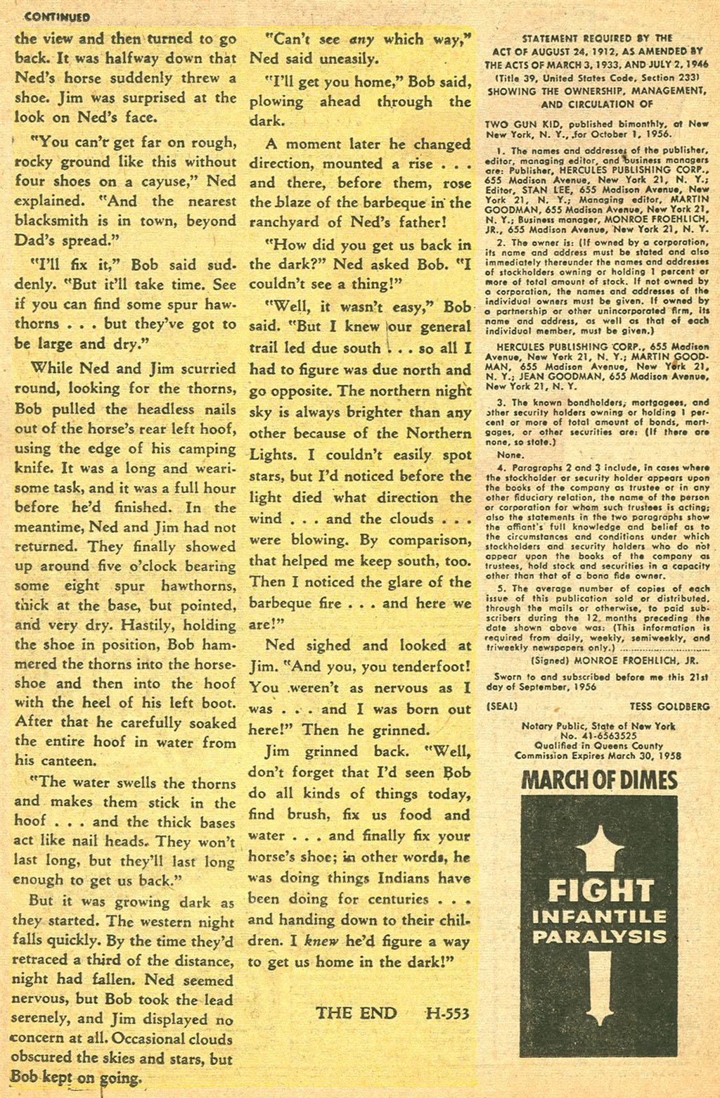 Read online Two-Gun Kid comic -  Issue #37 - 26